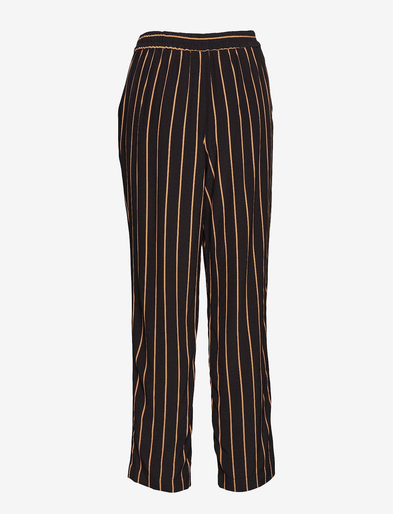 Selected Femme - SLFALESSA MW ANKLE PANT B - uitlopende broeken - black - 1