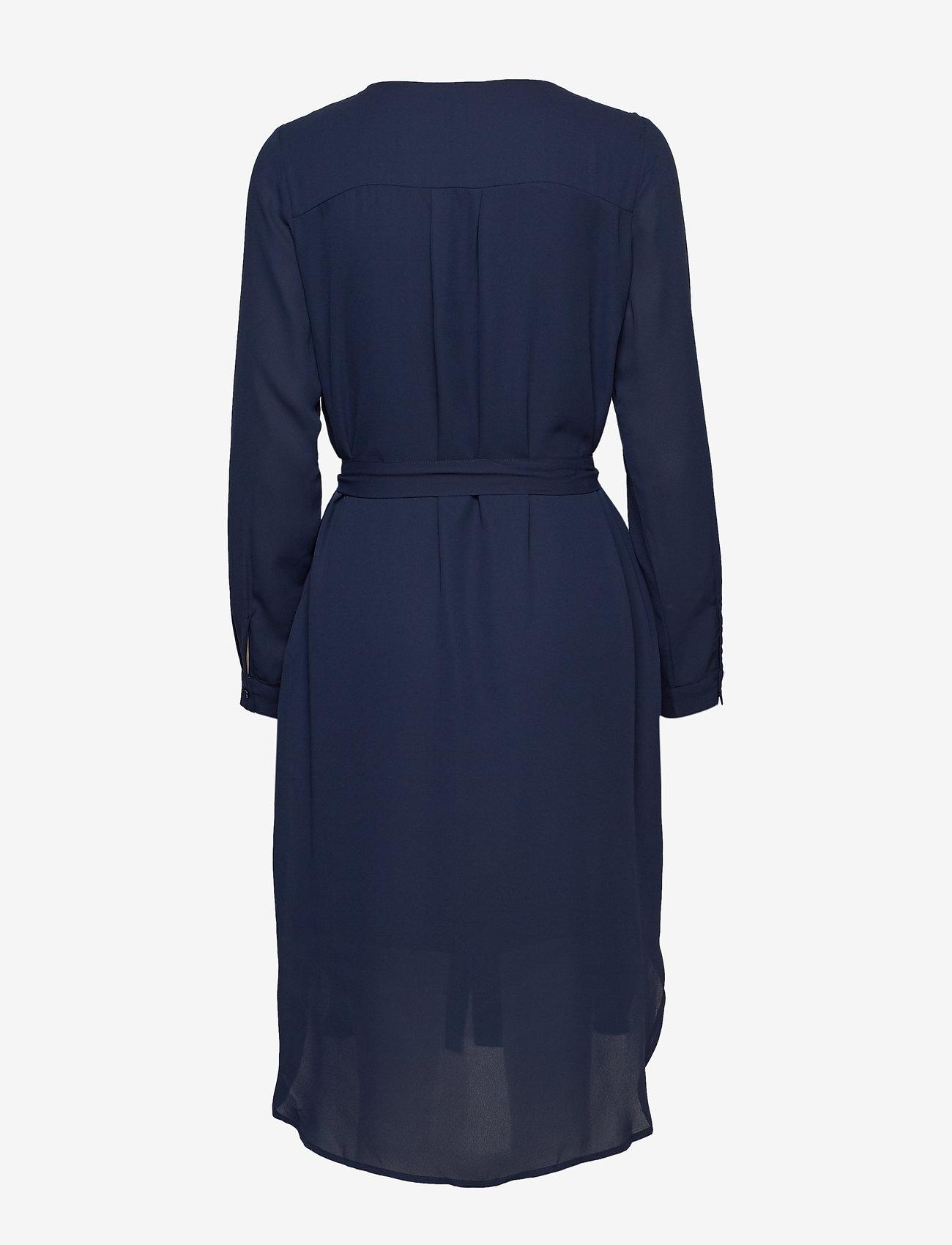 Selected Femme - SLFDYNELLA LS DRESS NOOS - robes midi - dark sapphire - 1
