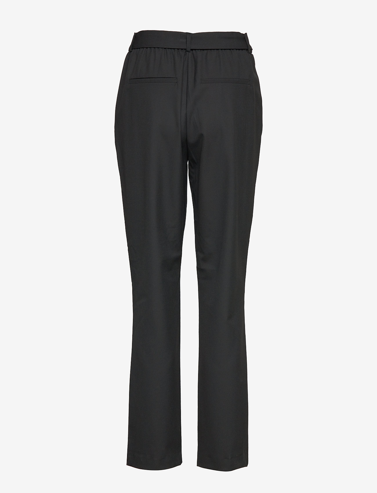 Selected Femme - SLFBIO KIPAS MW PANT NOOS - straight leg trousers - black - 1