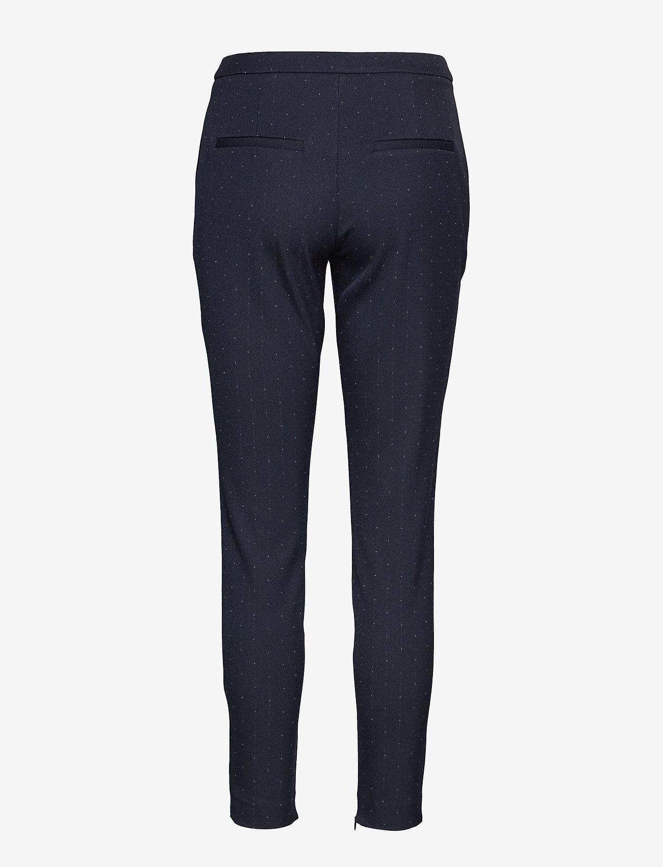 Selected Femme - SLFMUSE MW CROPPED  PANT DOT B - slim fit broeken - dark sapphire - 1