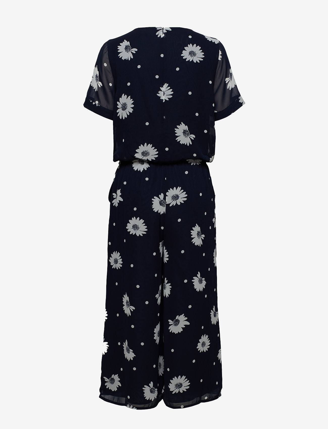 Selected Femme - SLFORIANA SS CROPPED JUMPSUIT B - jumpsuits - dark sapphire - 1
