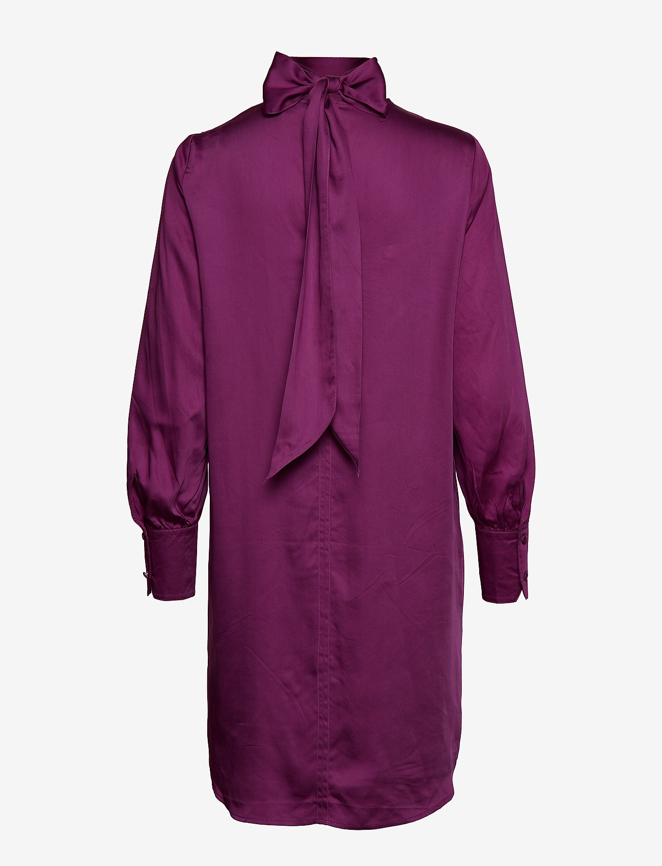 Selected Femme - SLFQUINN LS NECK TIE DRESS B - robes midi - clover - 1