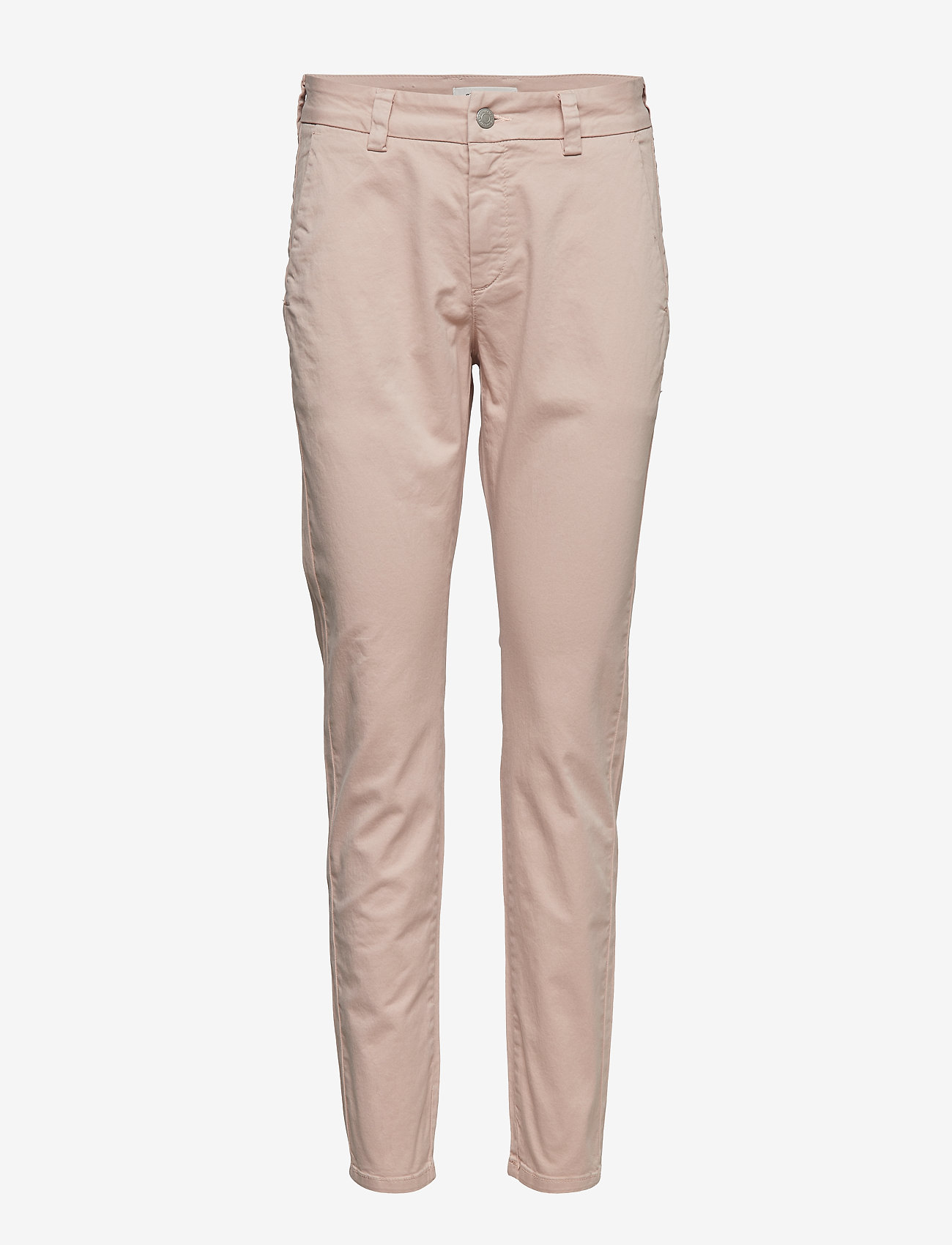 Selected Femme - SLFMEGAN MW CHINO  W - chinos - adobe rose - 0