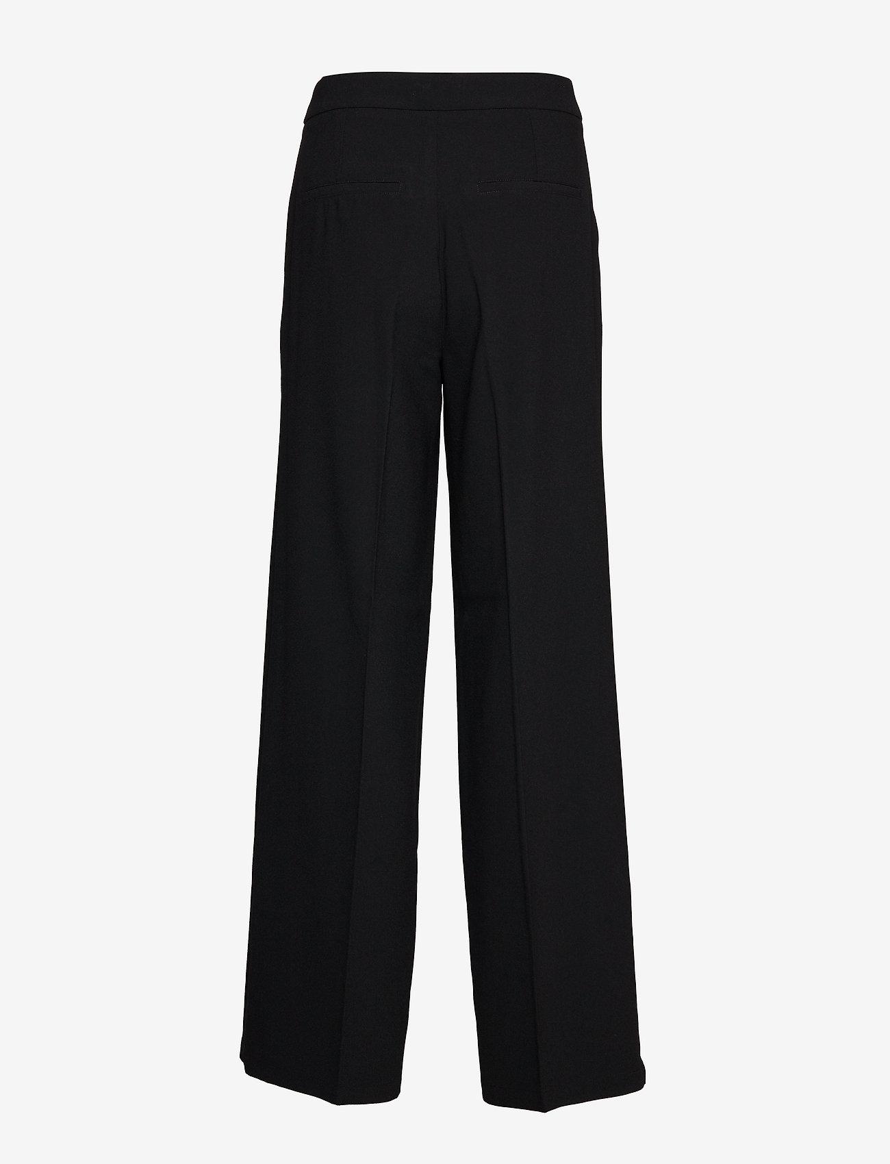 Selected Femme - SLFTINNI MW WIDE PANT B NOOS - bukser med brede ben - black - 1