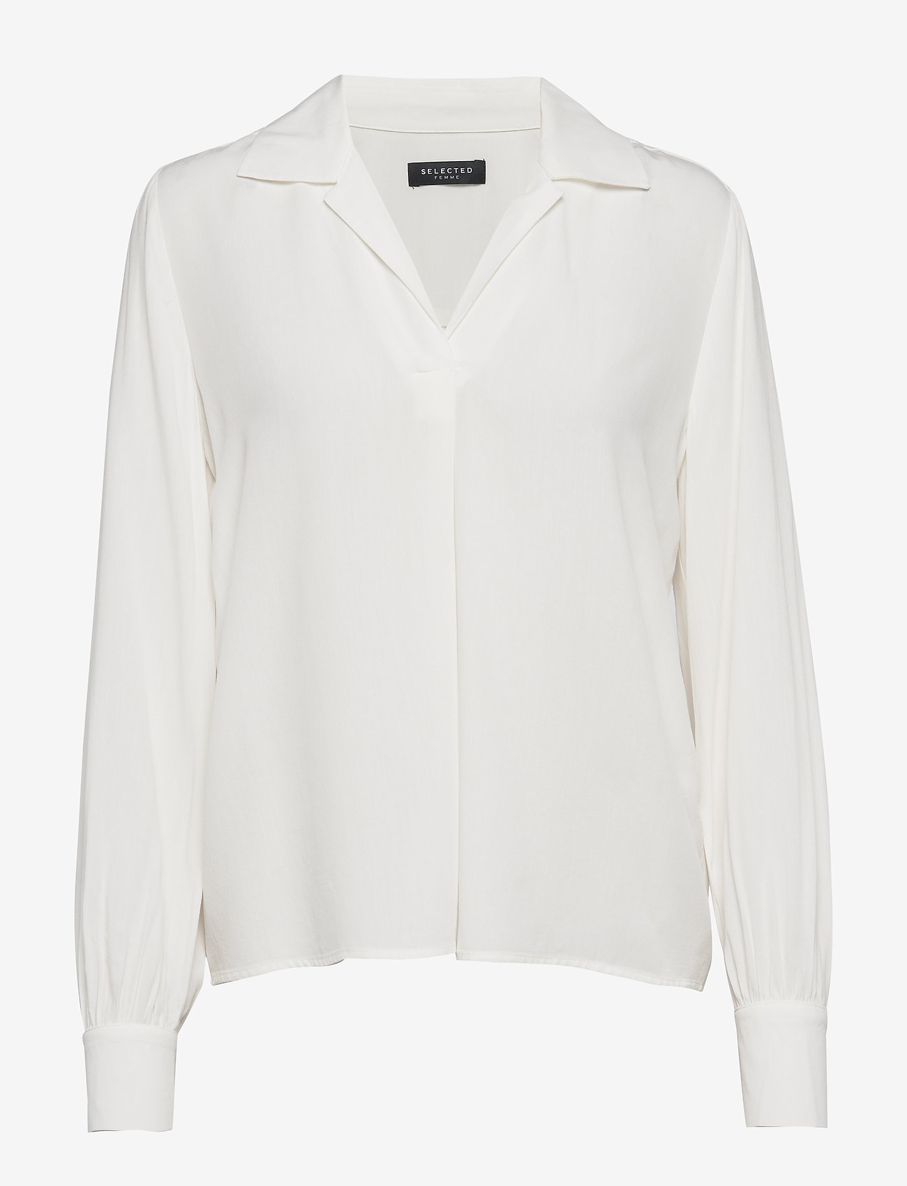 Selected Femme - SLFDAISY LS TOP NOOS - long sleeved blouses - creme - 0
