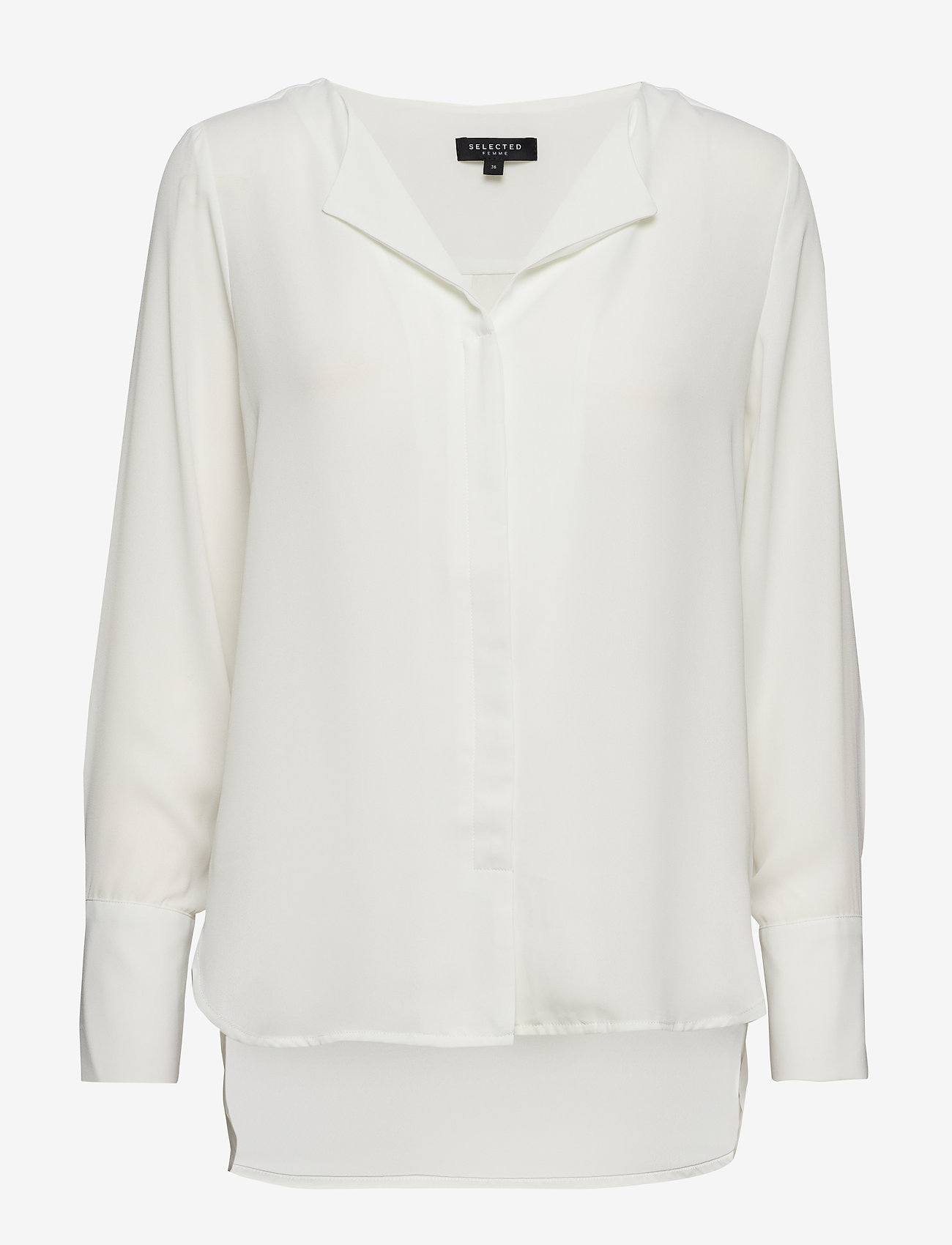 Selected Femme - SLFSTINA-DYNELLA LS SHIRT B NOOS - long sleeved blouses - creme - 0