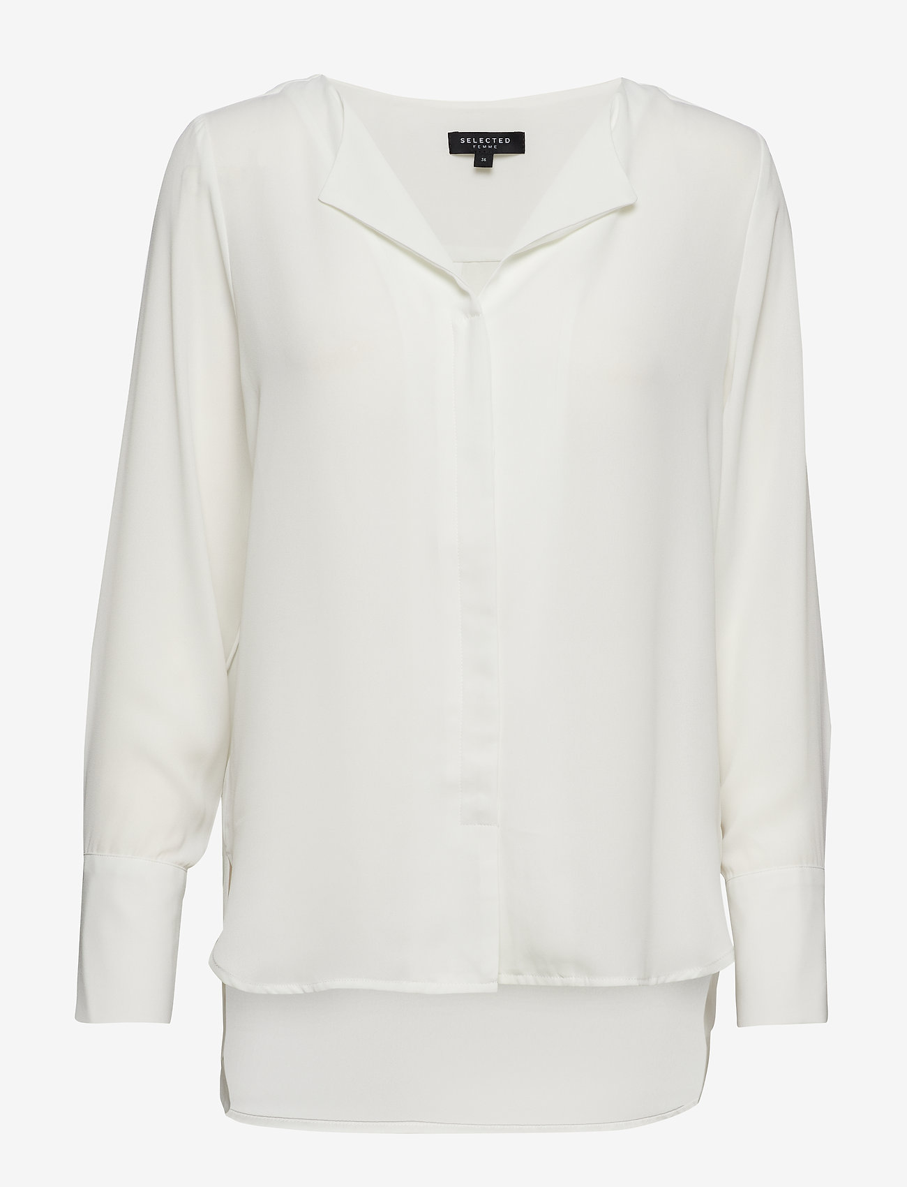 Selected Femme - SLFSTINA-DYNELLA LS SHIRT B NOOS - long sleeved blouses - creme - 1