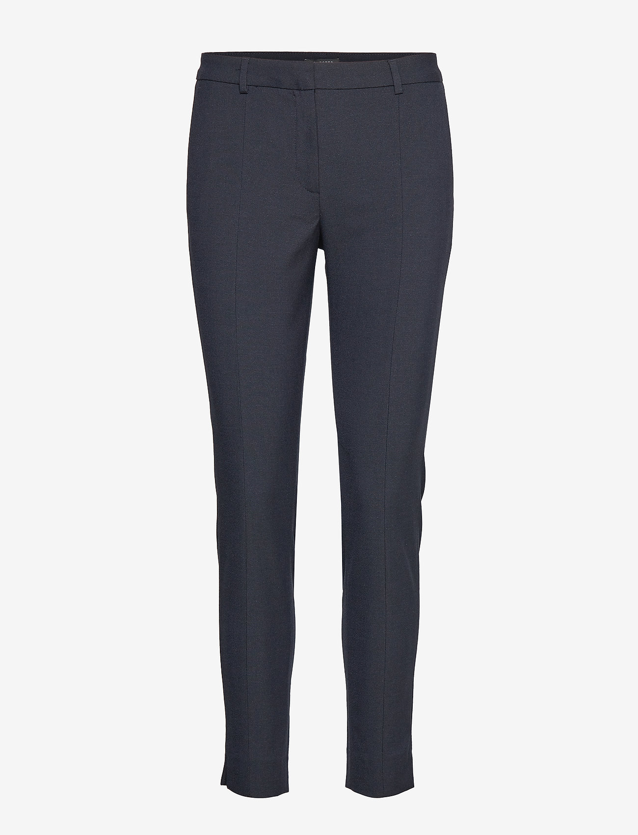 Selected Femme - SLFMUSE FIE CROPPED MW PANT  DS MEL NOOS - spodnie rurki - dark sapphire - 0