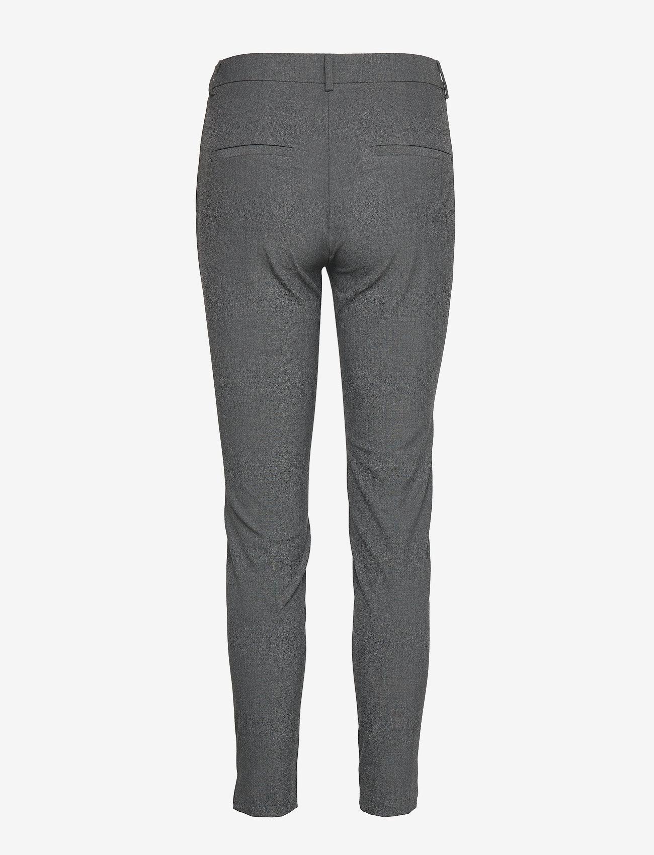 Selected Femme - SLFMUSE FIE CROPPED MW PANT MGM B NOOS - broeken med straight ben - medium grey melange - 1