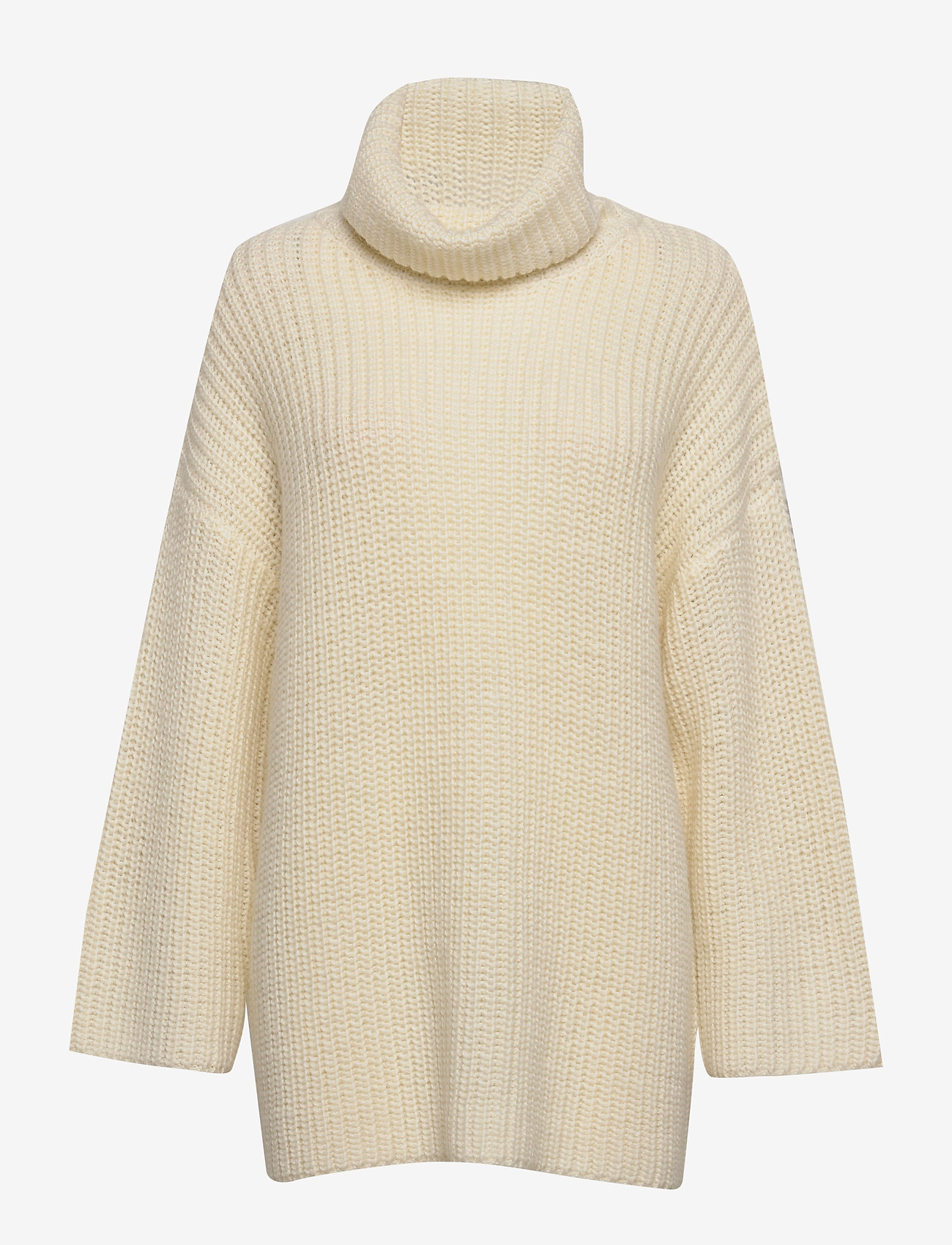 Selected Femme - SLFMILLE LS KNIT ROLLNECK W - poolopaidat - snow white