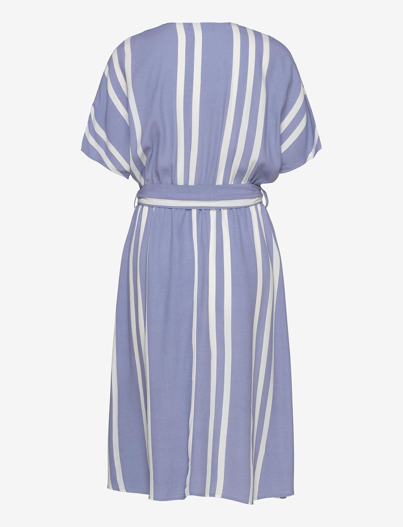 Selected Femme - SLFVIENNA SS AOP SHORT DRESS B - midi kjoler - country blue