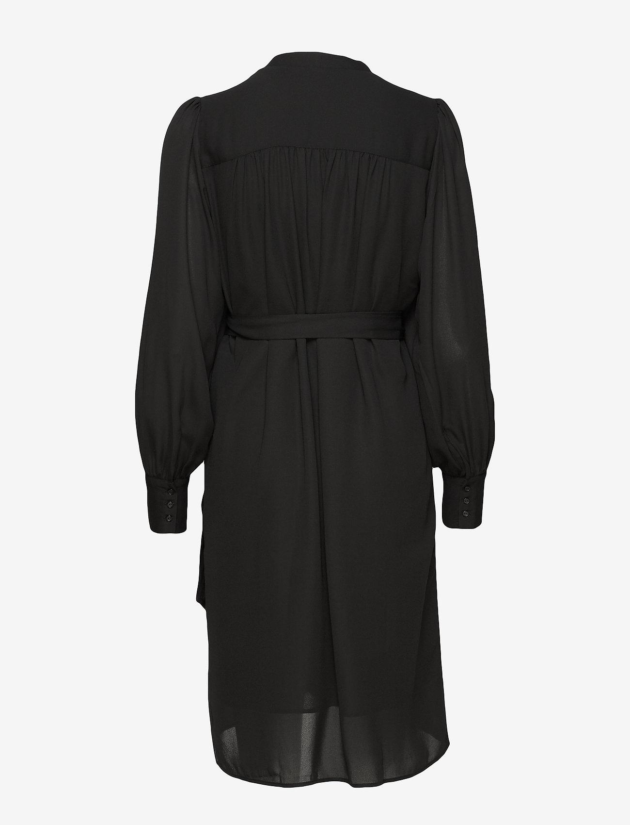 Selected Femme - SLFALVA LS WRAP DRESS NOOS - robes portefeuille - black - 1