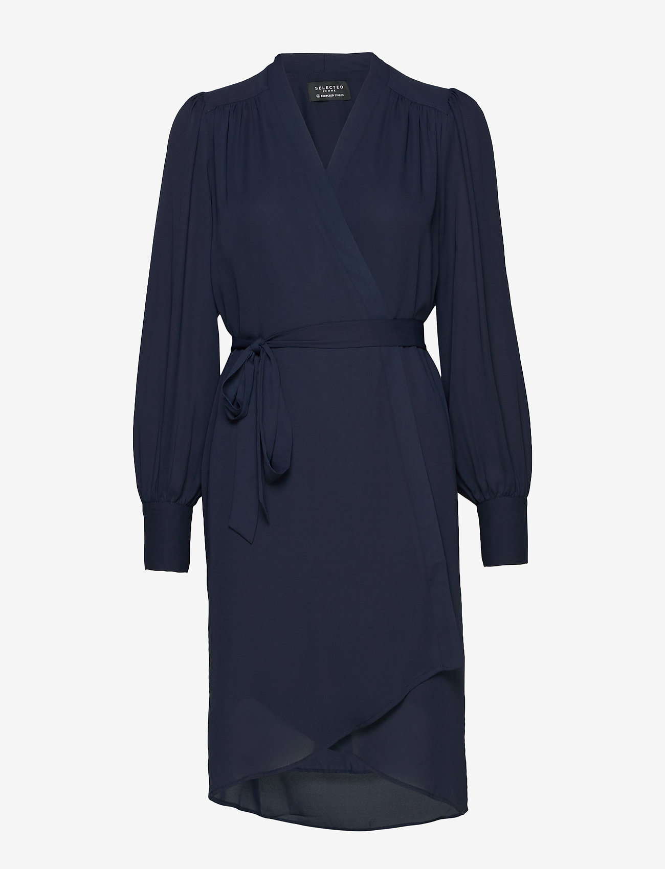 Selected Femme - SLFALVA LS WRAP DRESS NOOS - robes portefeuille - dark sapphire - 0