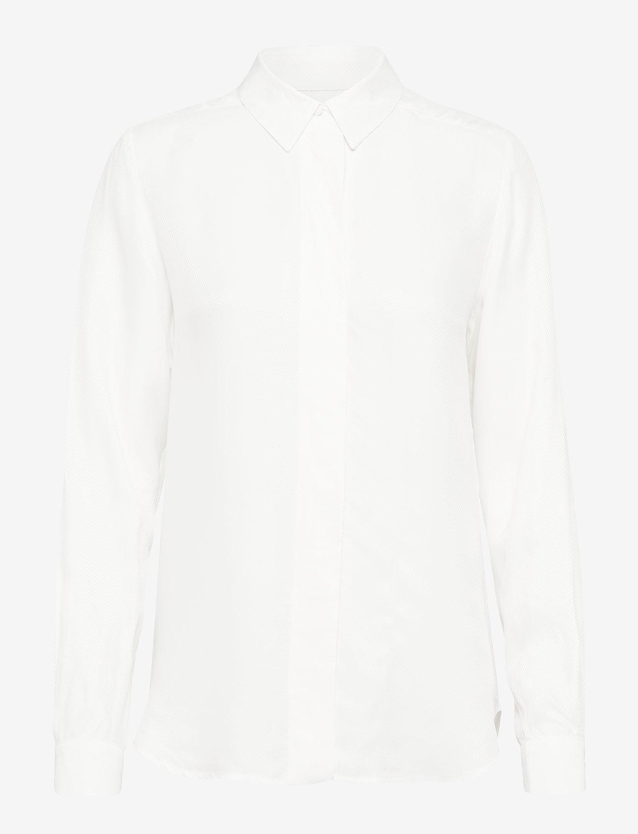 Selected Femme - SLFARABELLA-ODETTE LS SHIRT NOOS - long sleeved blouses - snow white - 0