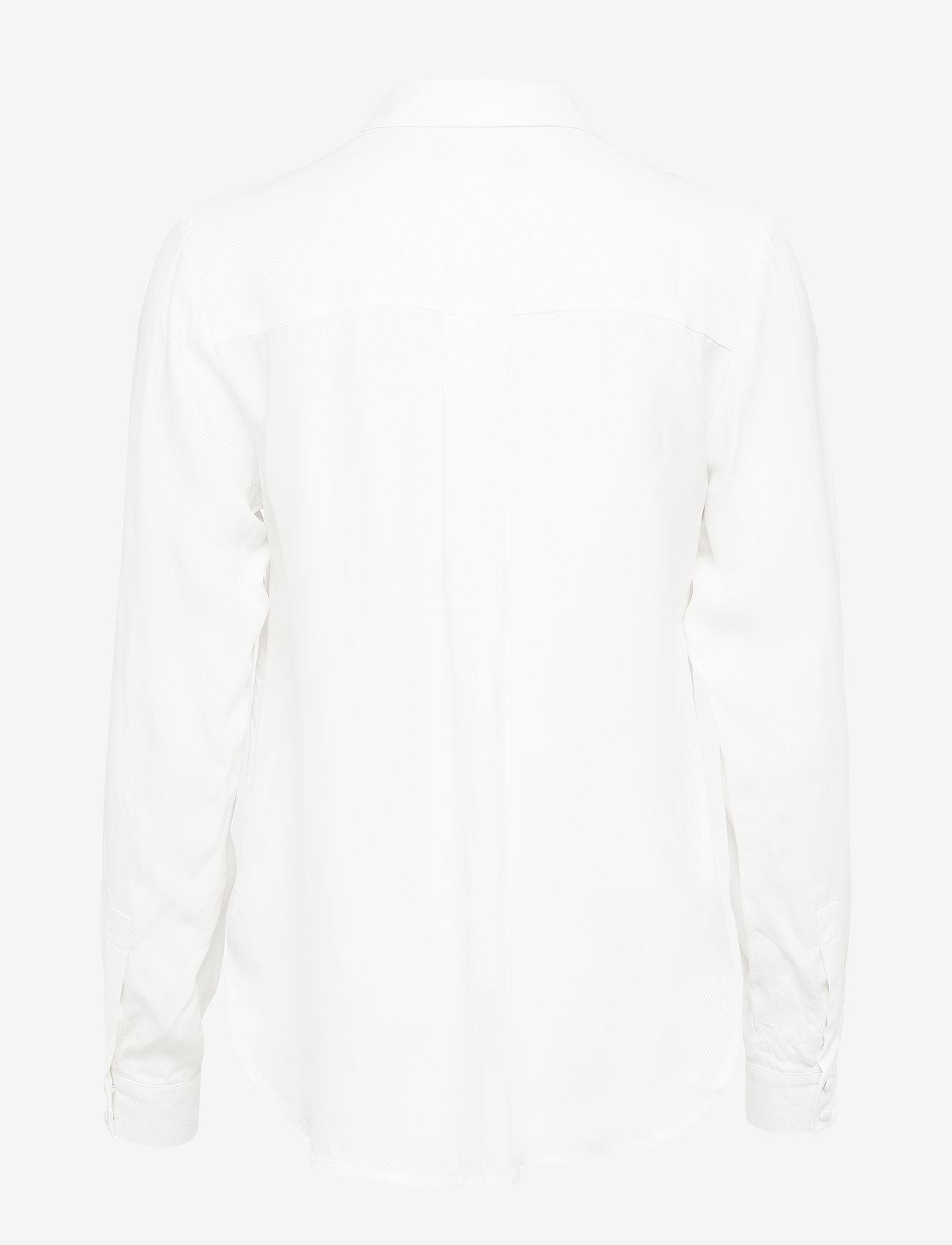 Selected Femme - SLFARABELLA-ODETTE LS SHIRT NOOS - long sleeved blouses - snow white - 1