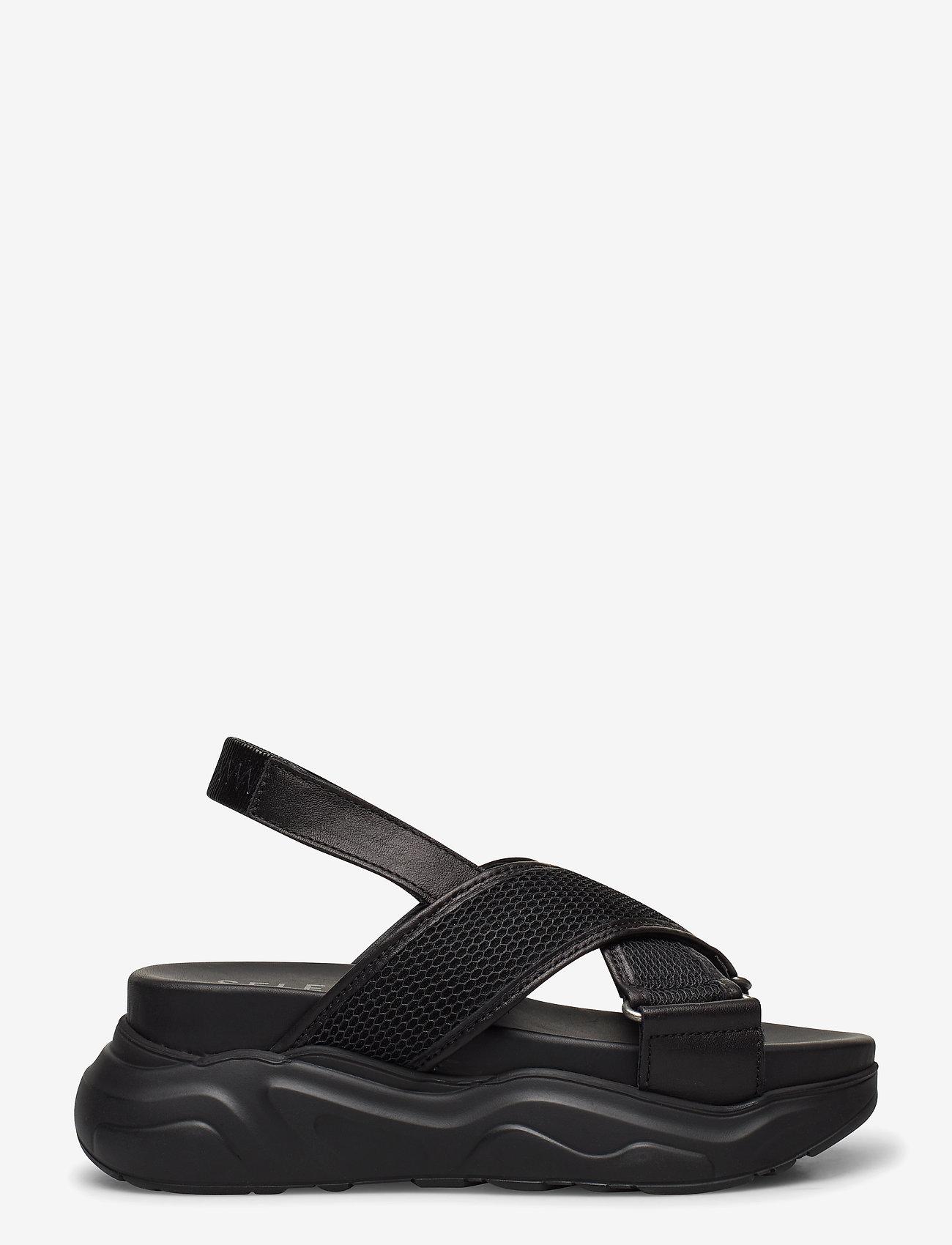 Selected Femme - SLFOLLIE SANDAL B - flat sandals - black