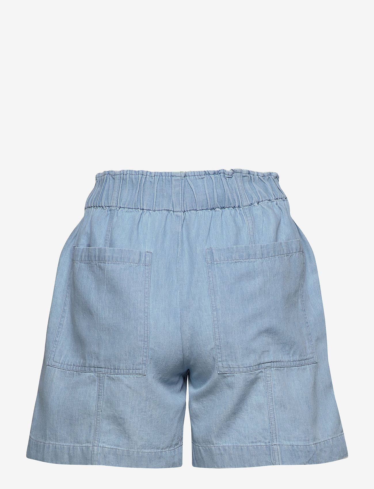 Selected Femme - SLFNOVO MW SHORTS W - korte jeansbroeken - light blue - 1
