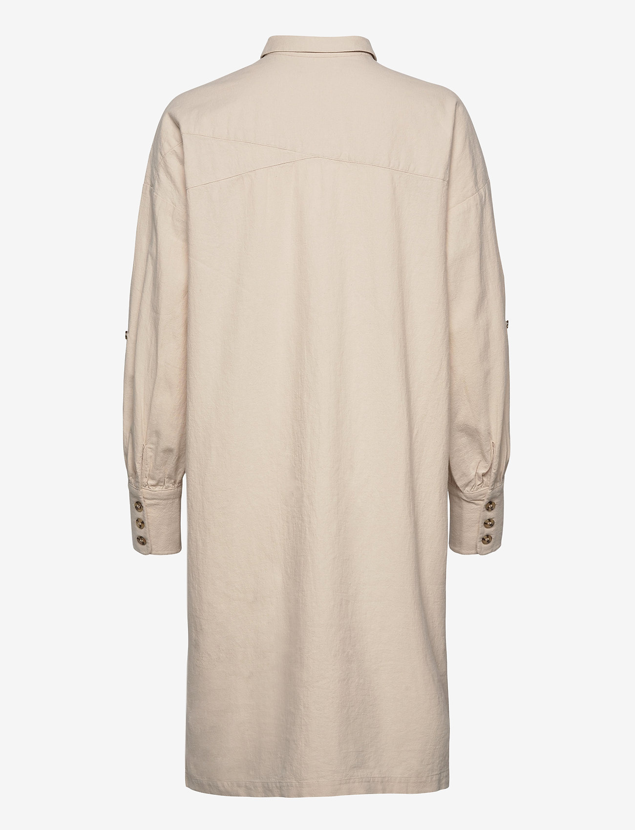 Selected Femme - SLFMALVINA-TONIA LS SHIRT DRESS B - shirt dresses - sandshell
