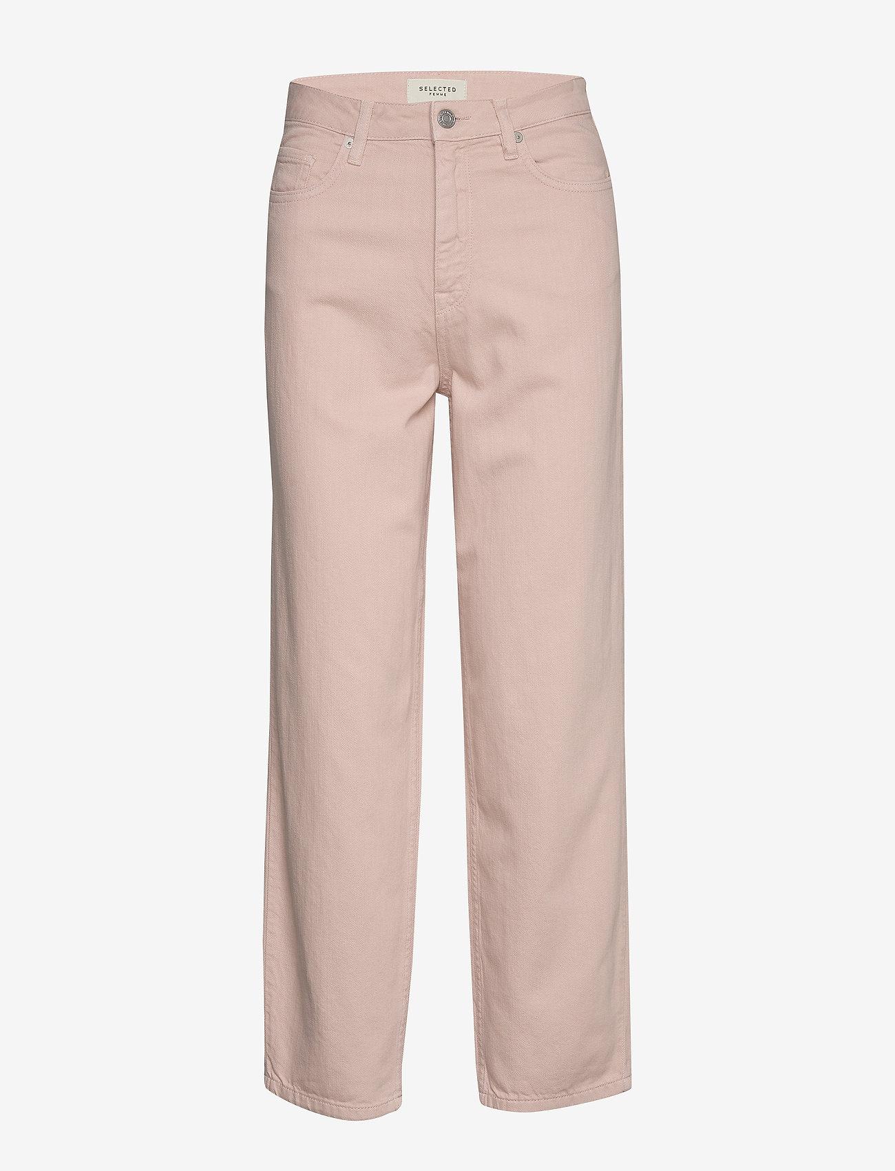 Selected Femme - SLFELLI HW LIGHT PINK VOLUME JEANS W - pantalons larges - potpourri - 0