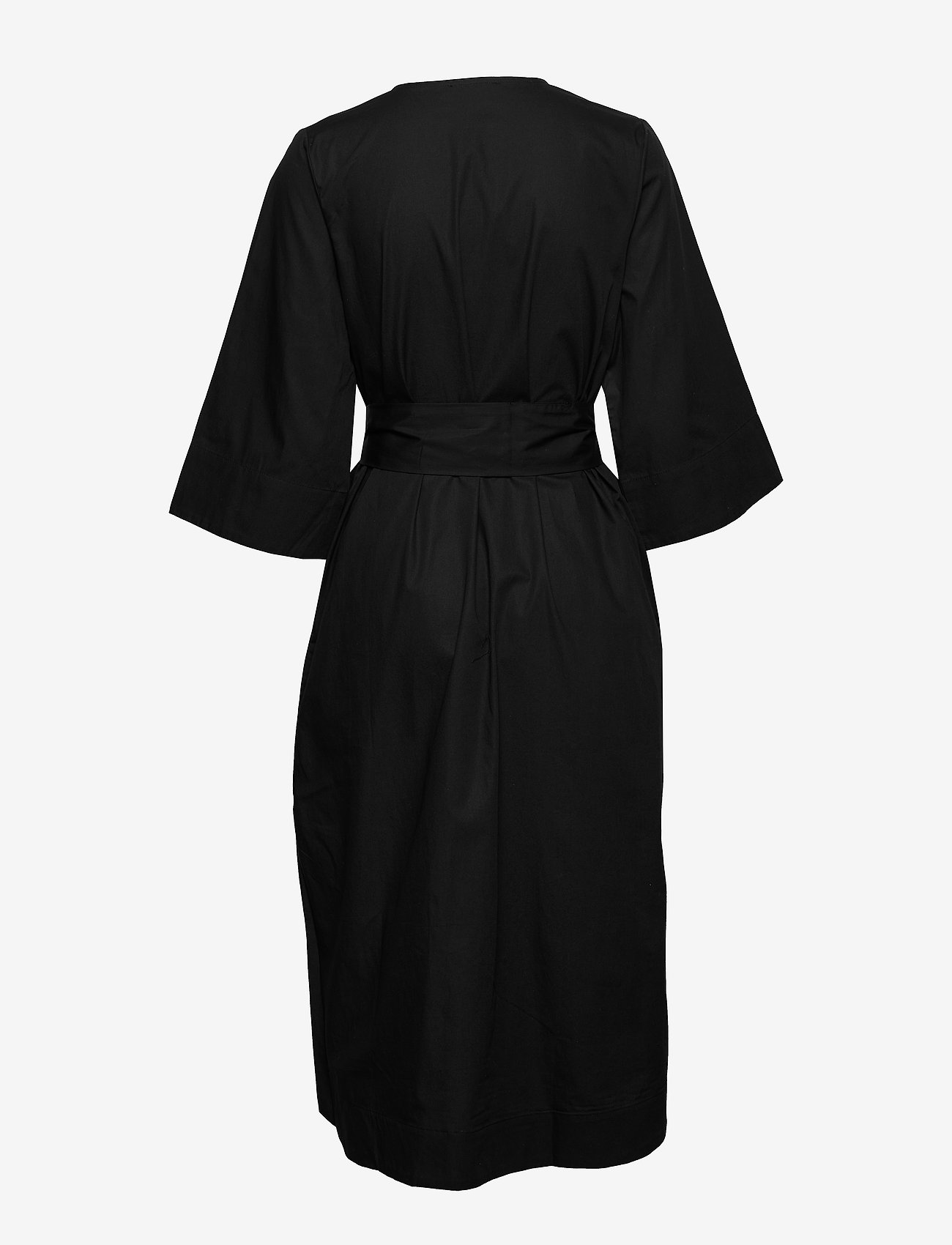 Selected Femme - SLFCARLOTTA 3/4 MIDI KAFTAN DRESS B - robes midi - black - 1