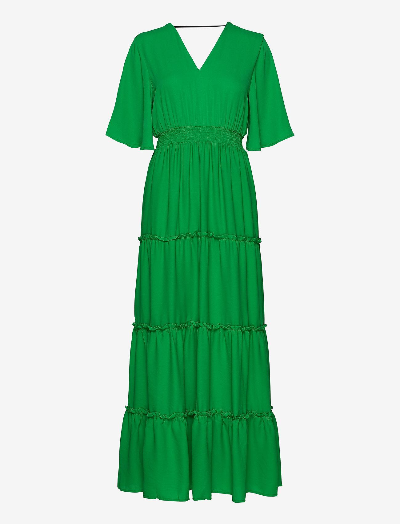 Selected Femme - SLFRAYA 2/4 MAXI DRESS B - maxi dresses - bright green
