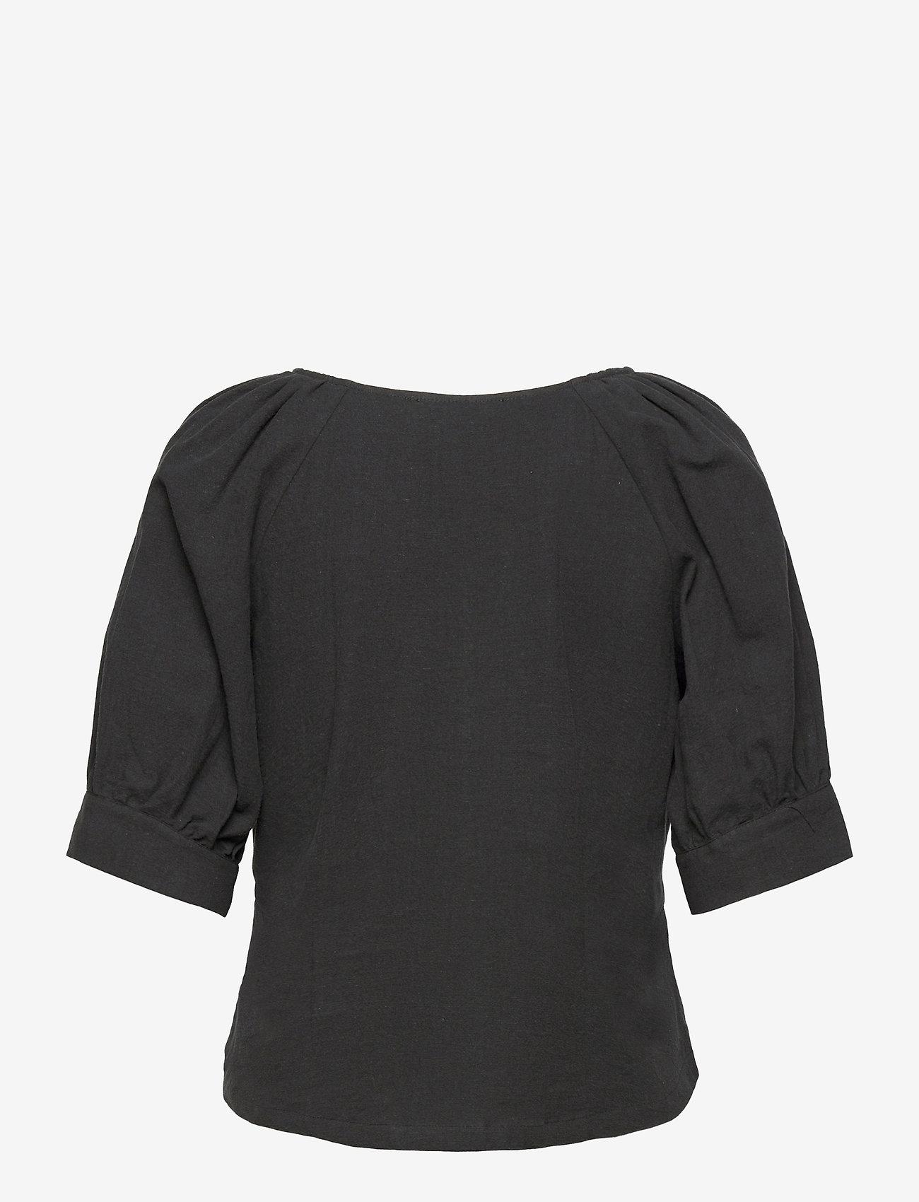 Selected Femme - SLFMALVINA 2/4 SHIRT - kurzämlige blusen - black - 1