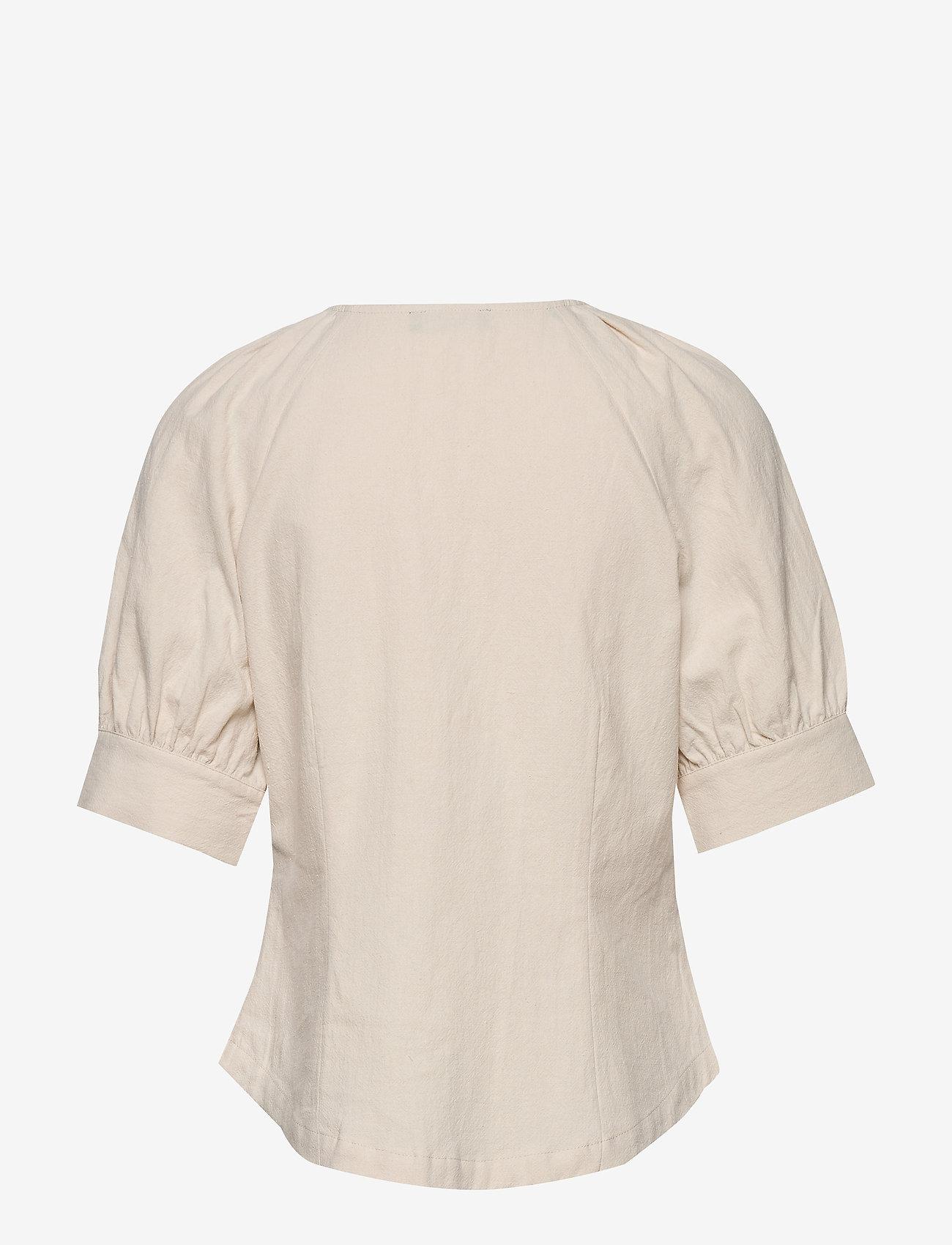 Selected Femme - SLFMALVINA 2/4 SHIRT - kurzämlige blusen - sandshell - 1