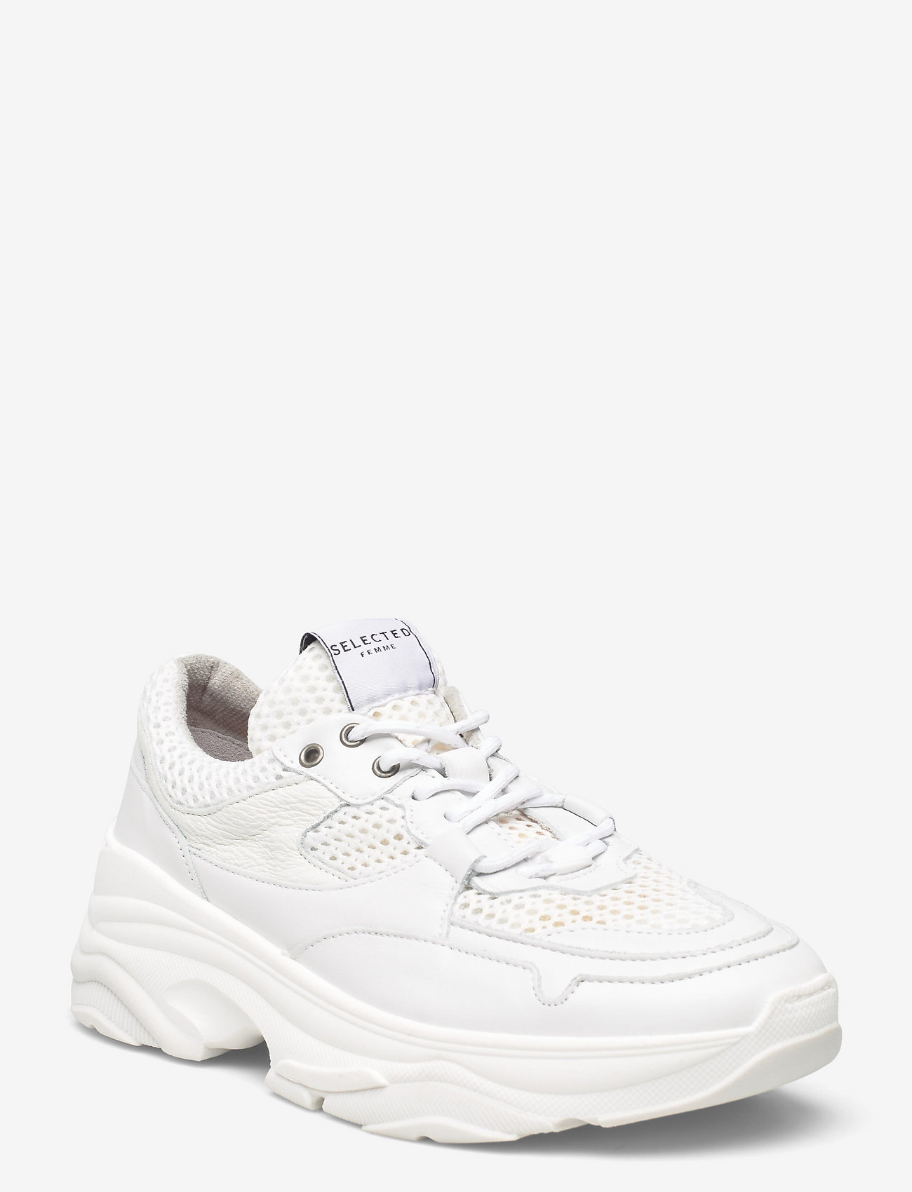 Selected Femme - SLFGAVINA TRAINER NOOS B - lave sneakers - white - 0