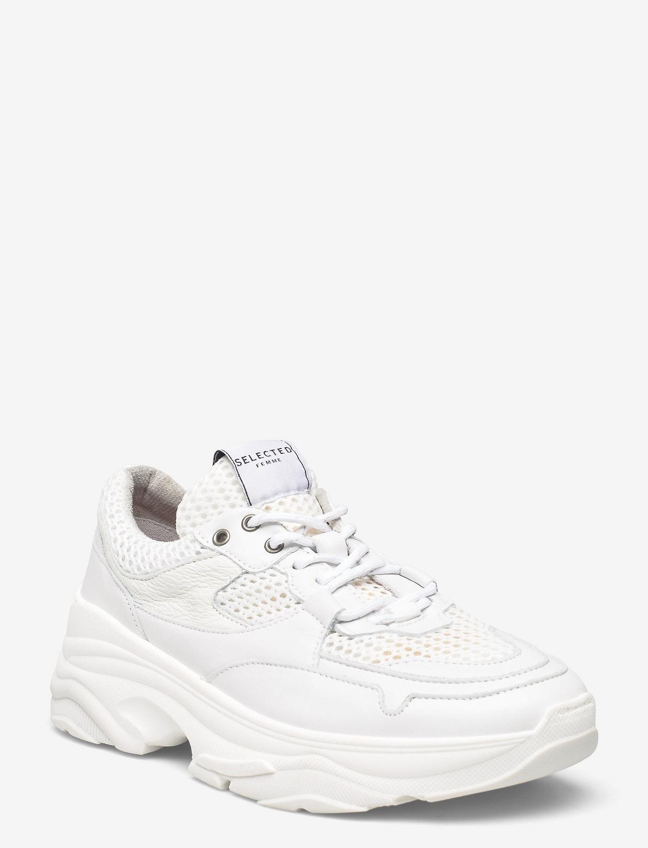 Selected Femme - SLFGAVINA TRAINER B NOOS - sneakersy niskie - white - 0