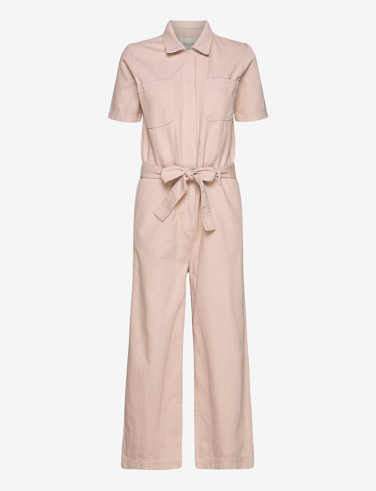 Selected Femme - SLFVIKA SS CROP DENIM JUMPSUIT W - jumpsuits - potpourri - 0