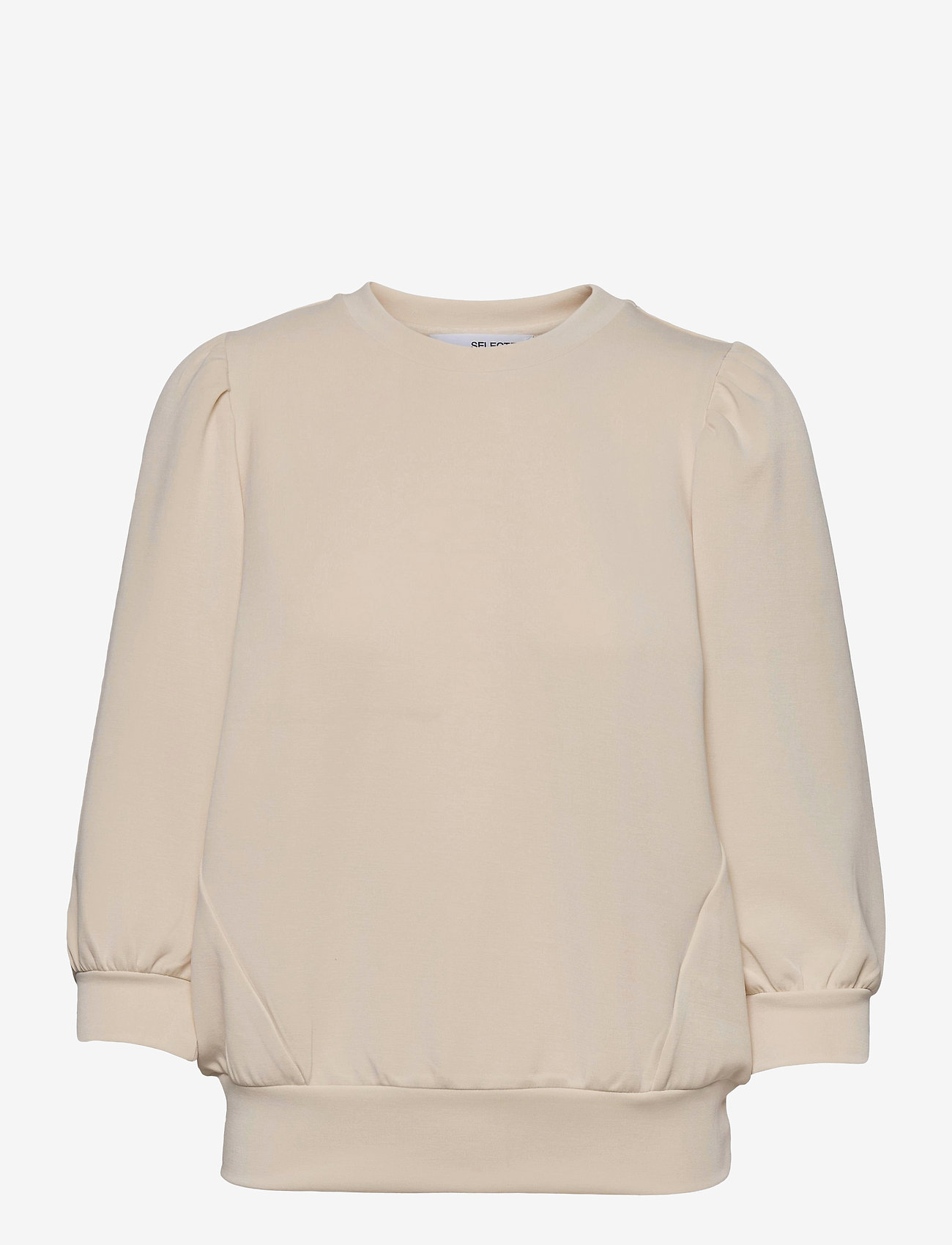 Selected Femme - SLFTENNY 3/4 SWEAT - sweatshirts - birch - 0
