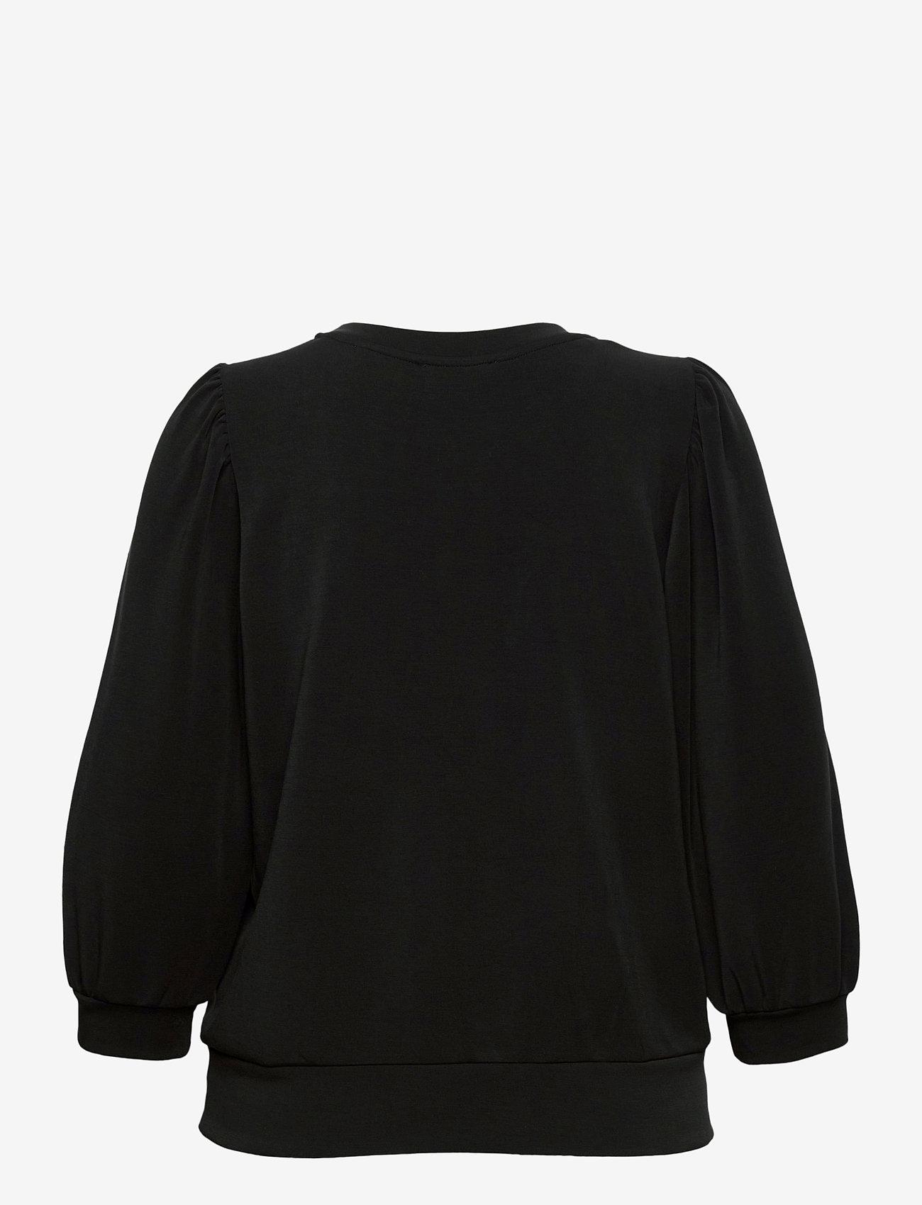 Selected Femme - SLFTENNY 3/4 SWEAT - sweatshirts - black - 1