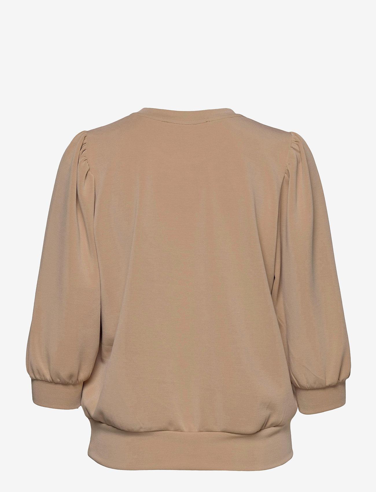 Selected Femme - SLFTENNY 3/4 SWEAT - sweatshirts - nomad - 1