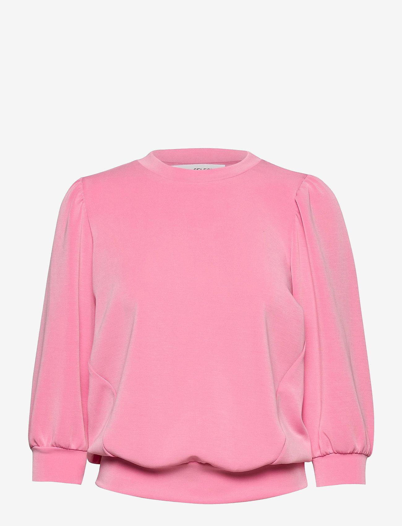 Selected Femme - SLFTENNY 3/4 SWEAT - sweatshirts - rosebloom - 0