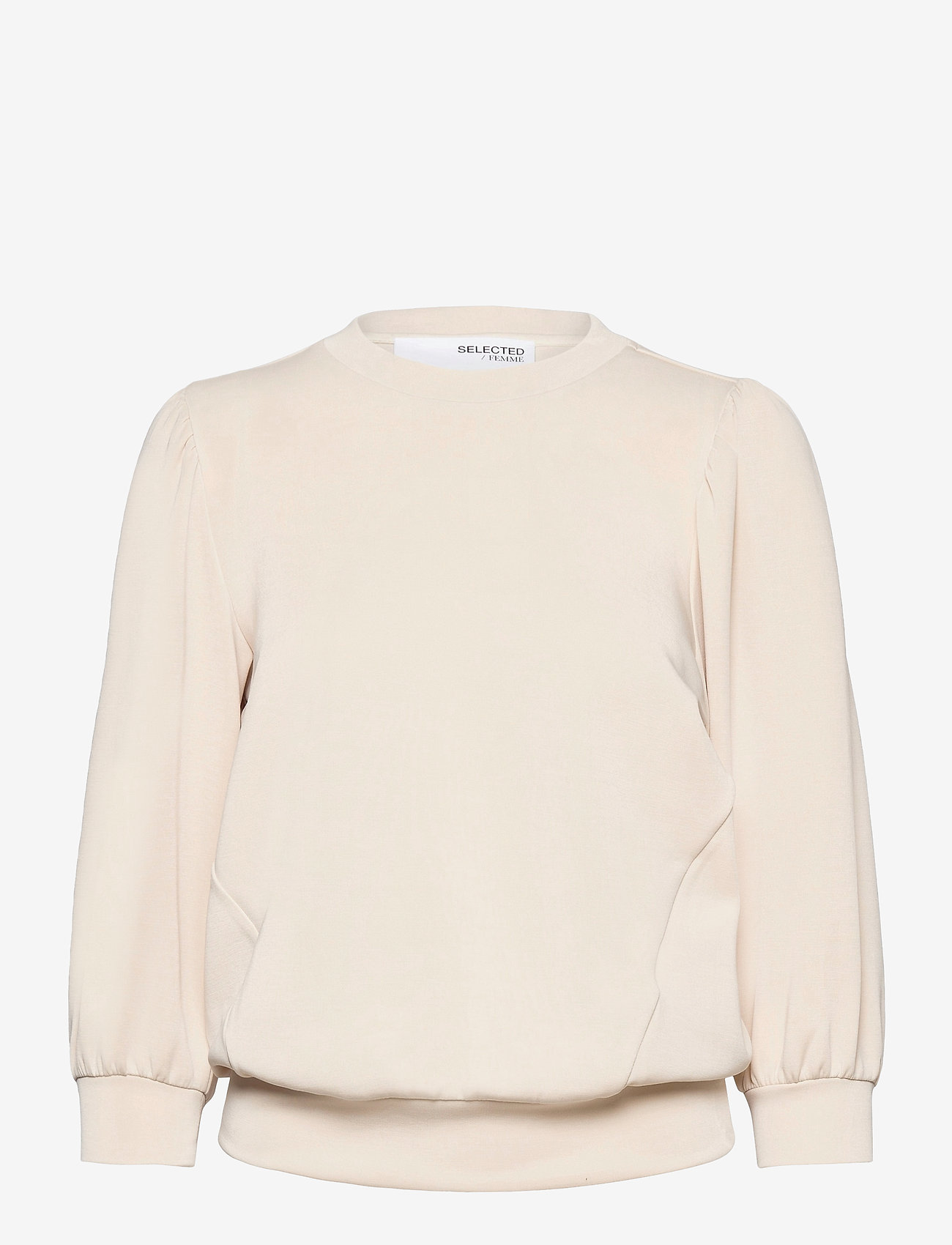 Selected Femme - SLFTENNY 3/4 SWEAT - sweatshirts - sandshell - 0