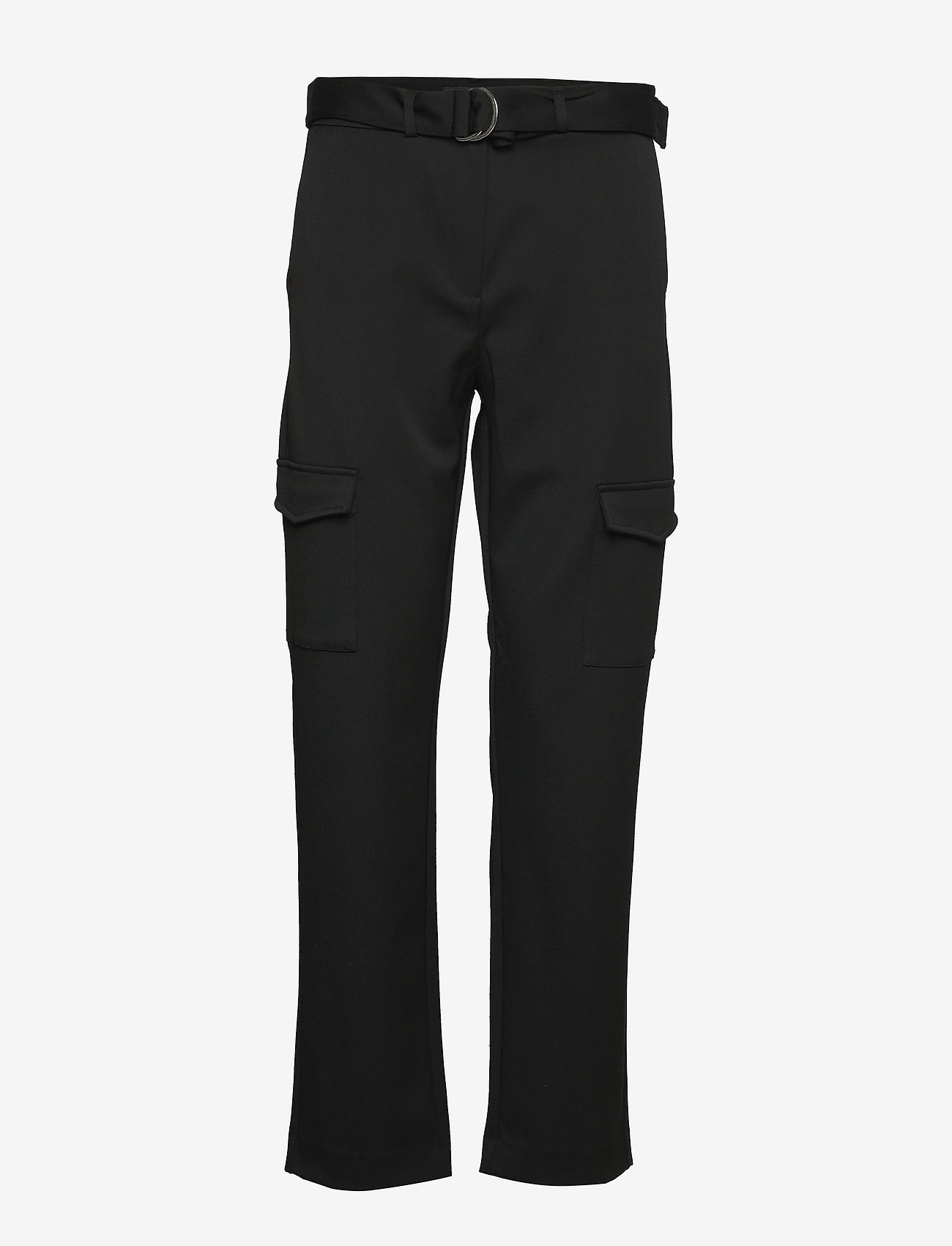 Selected Femme - SLFWILMA HW PANT EX - straight leg trousers - black - 0