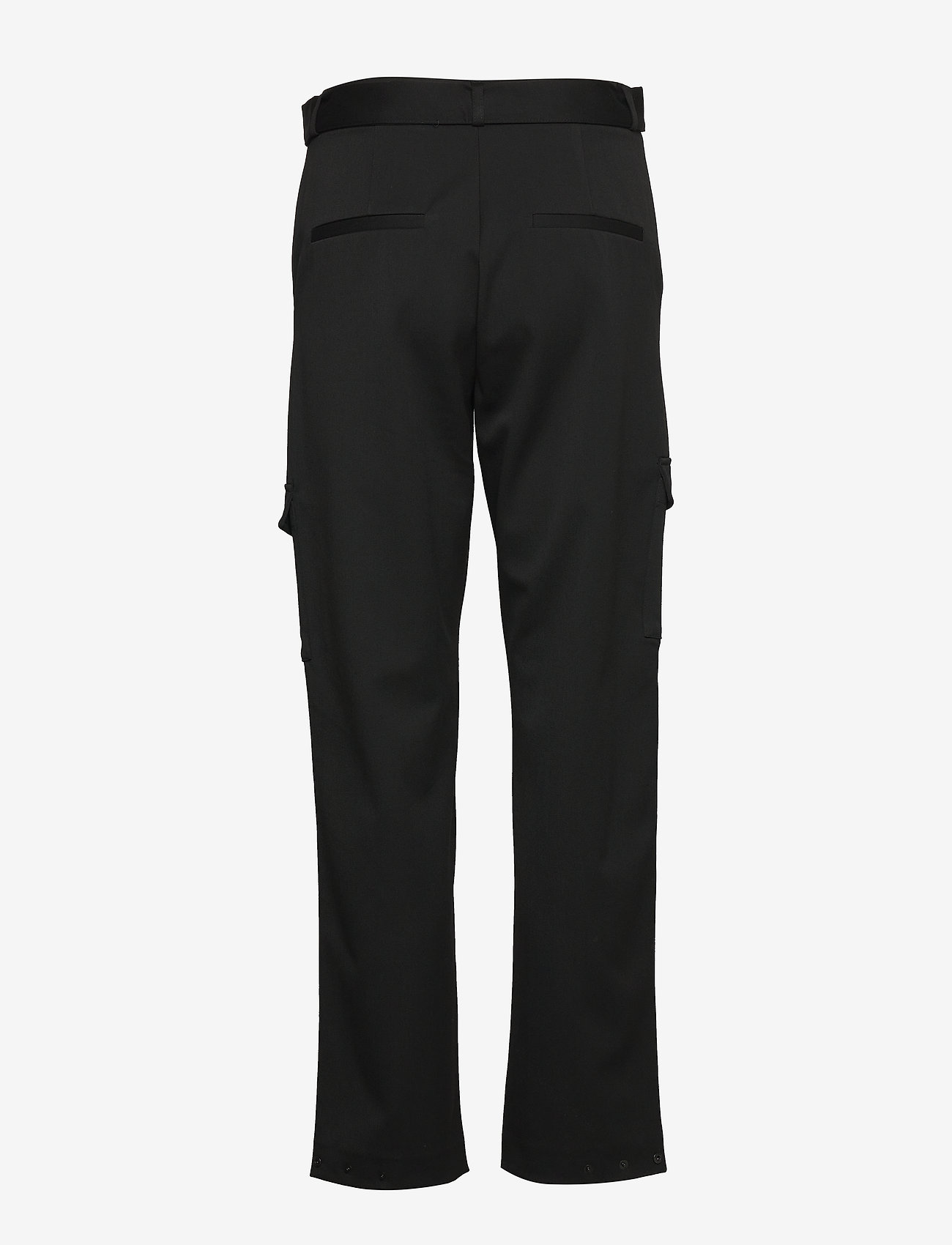 Selected Femme - SLFWILMA HW PANT EX - straight leg trousers - black - 1