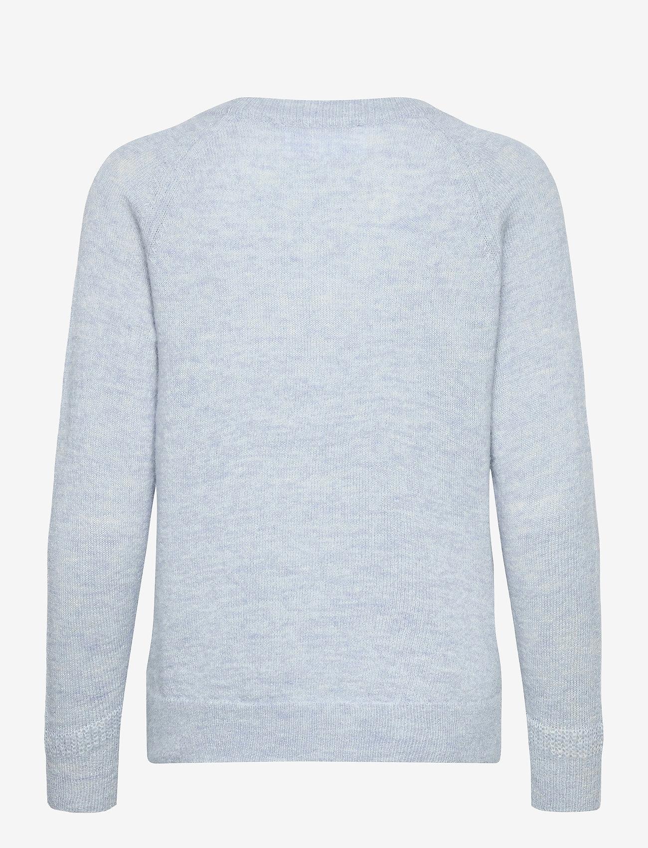 Selected Femme - SLFLULU LS KNIT O-NECK - truien - cashmere blue - 1