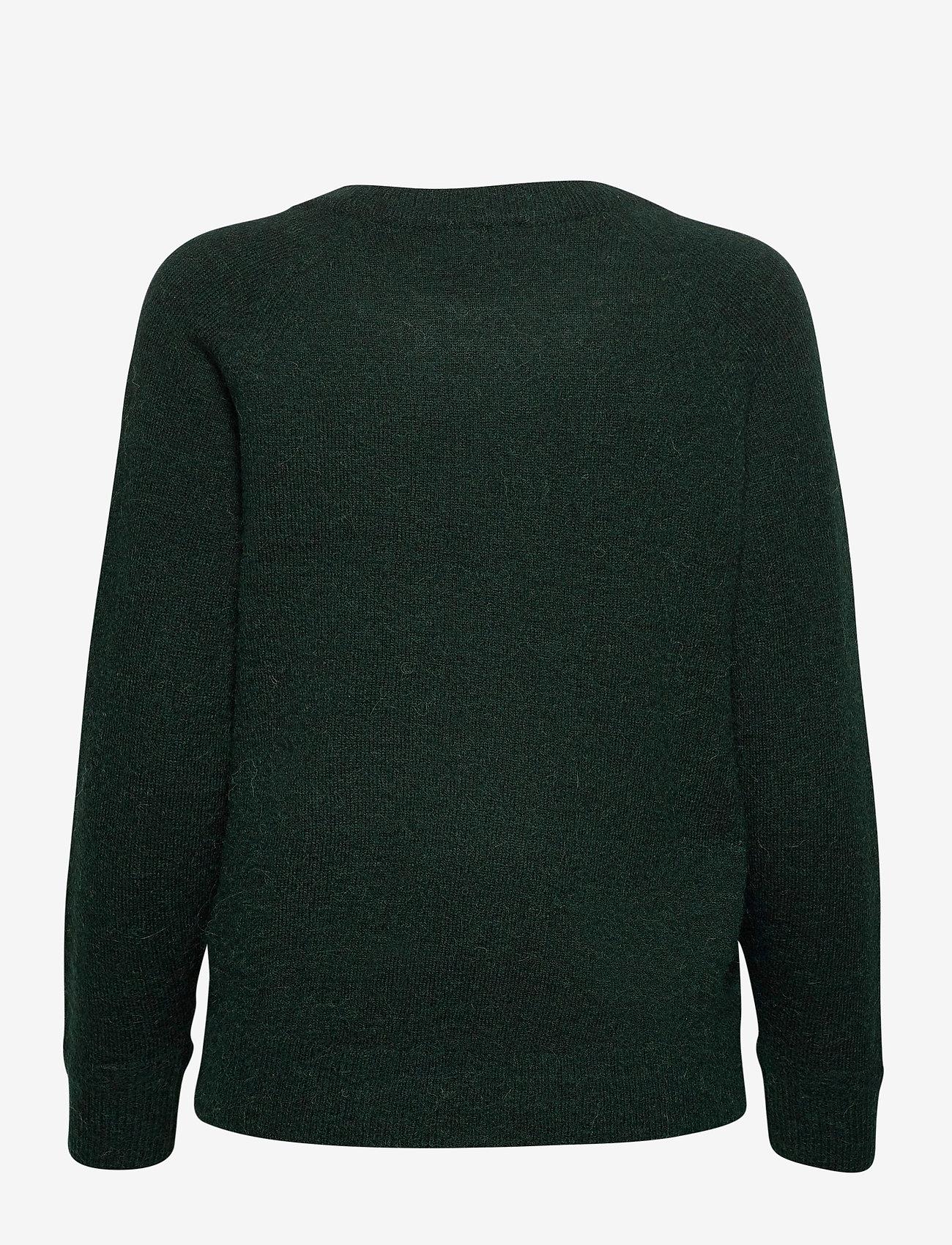 Selected Femme - SLFLULU LS KNIT O-NECK - tröjor - scarab - 1