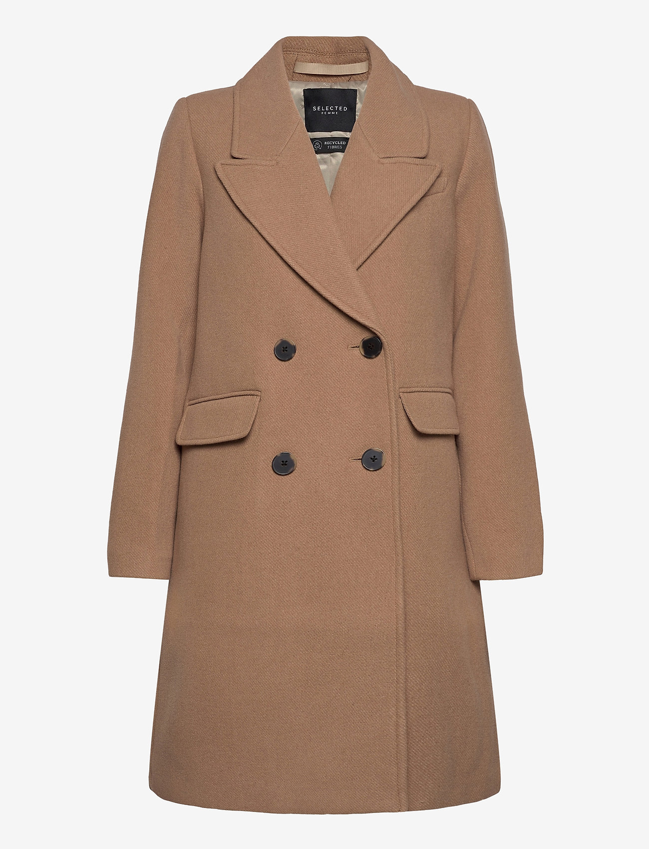 Selected Femme - SLFSASSY WOOL COAT B - wool coats - tigers eye - 0