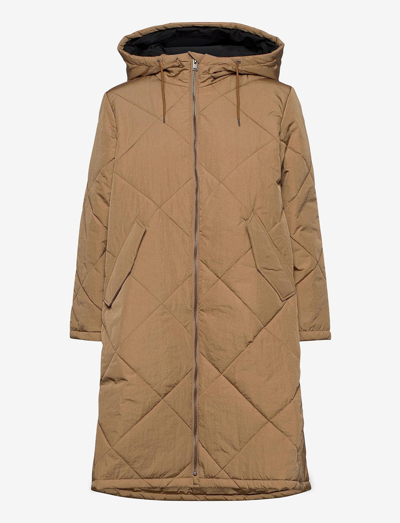 Selected Femme - SLFMARAN PADDED COAT B - padded coats - tigers eye - 1