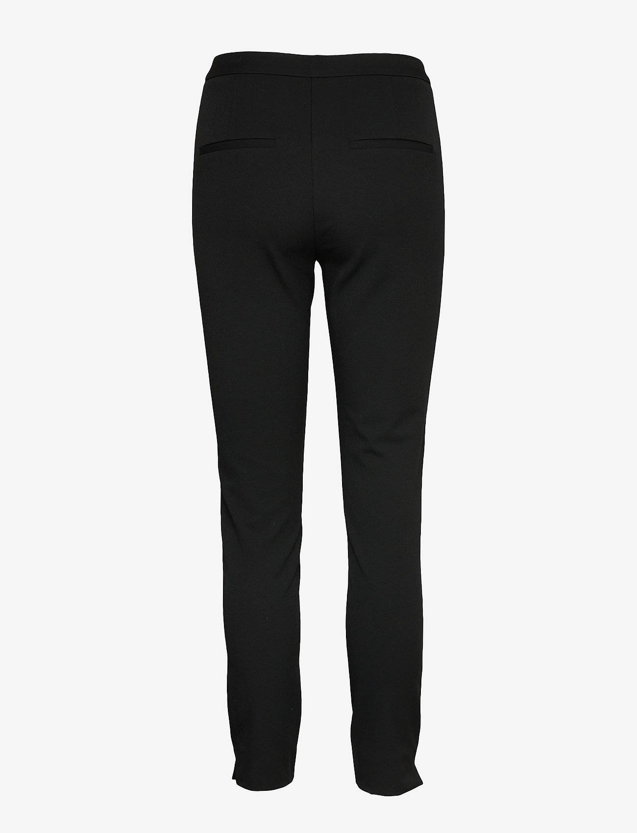 Selected Femme - SLFILUE MW PINTUCK PANT B NOOS - straight leg trousers - black - 1