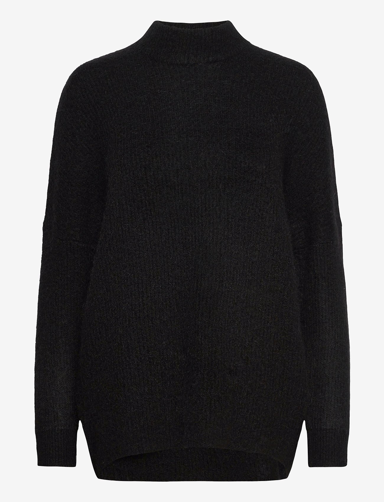 Selected Femme - SLFLULU ENICA LS KNIT O-NECK - truien - black - 0