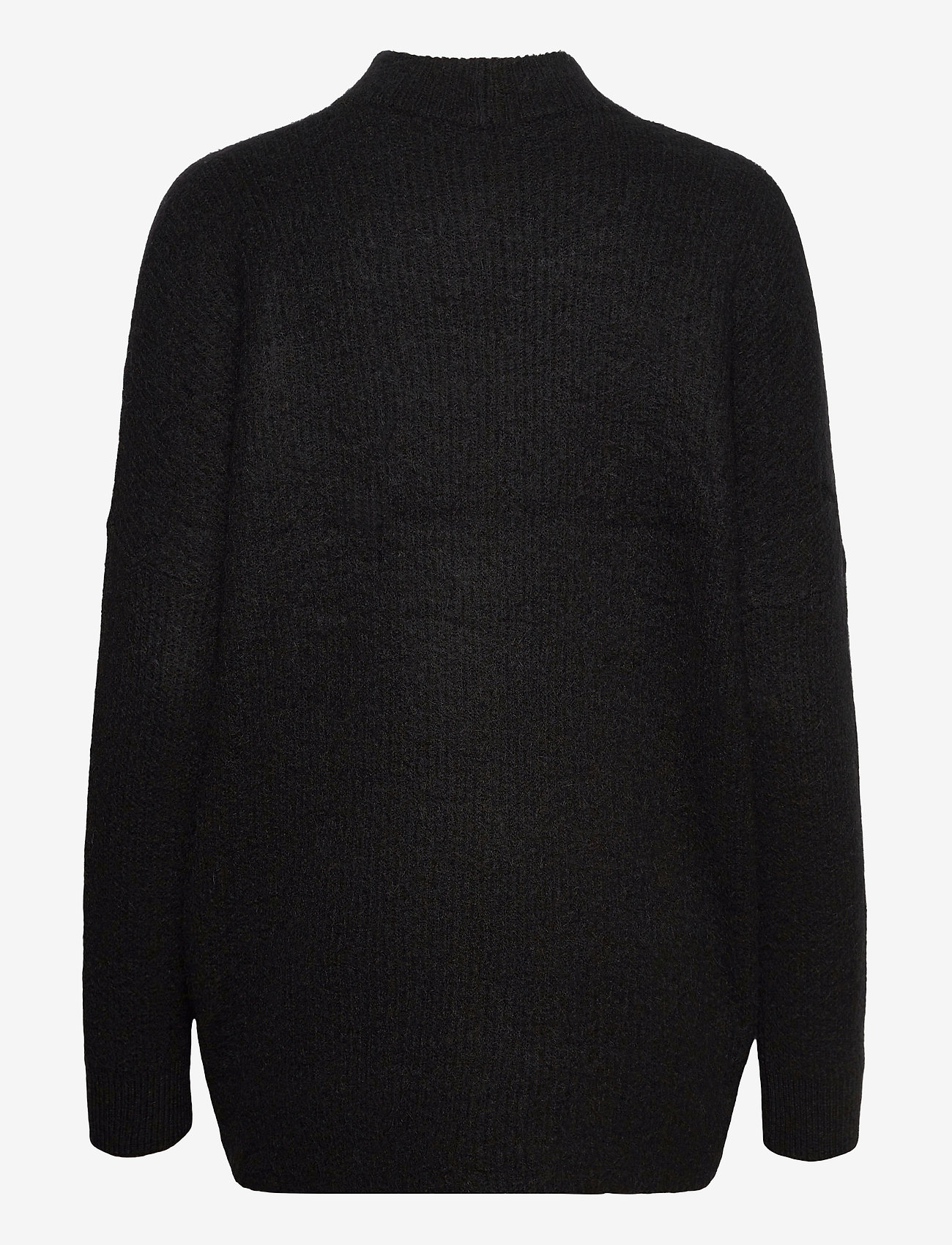 Selected Femme - SLFLULU ENICA LS KNIT O-NECK - truien - black - 1