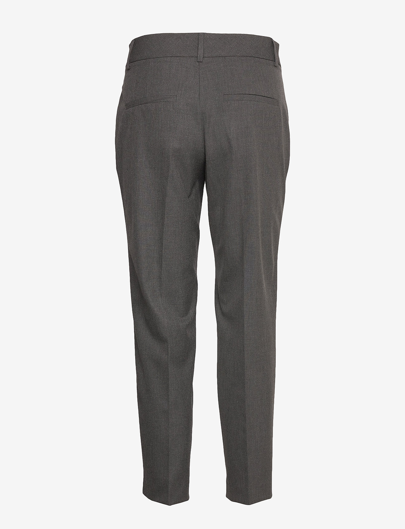 Selected Femme - SLFRIA MW CROPPED PANT DGM B NOOS - straight leg trousers - dark grey melange - 1