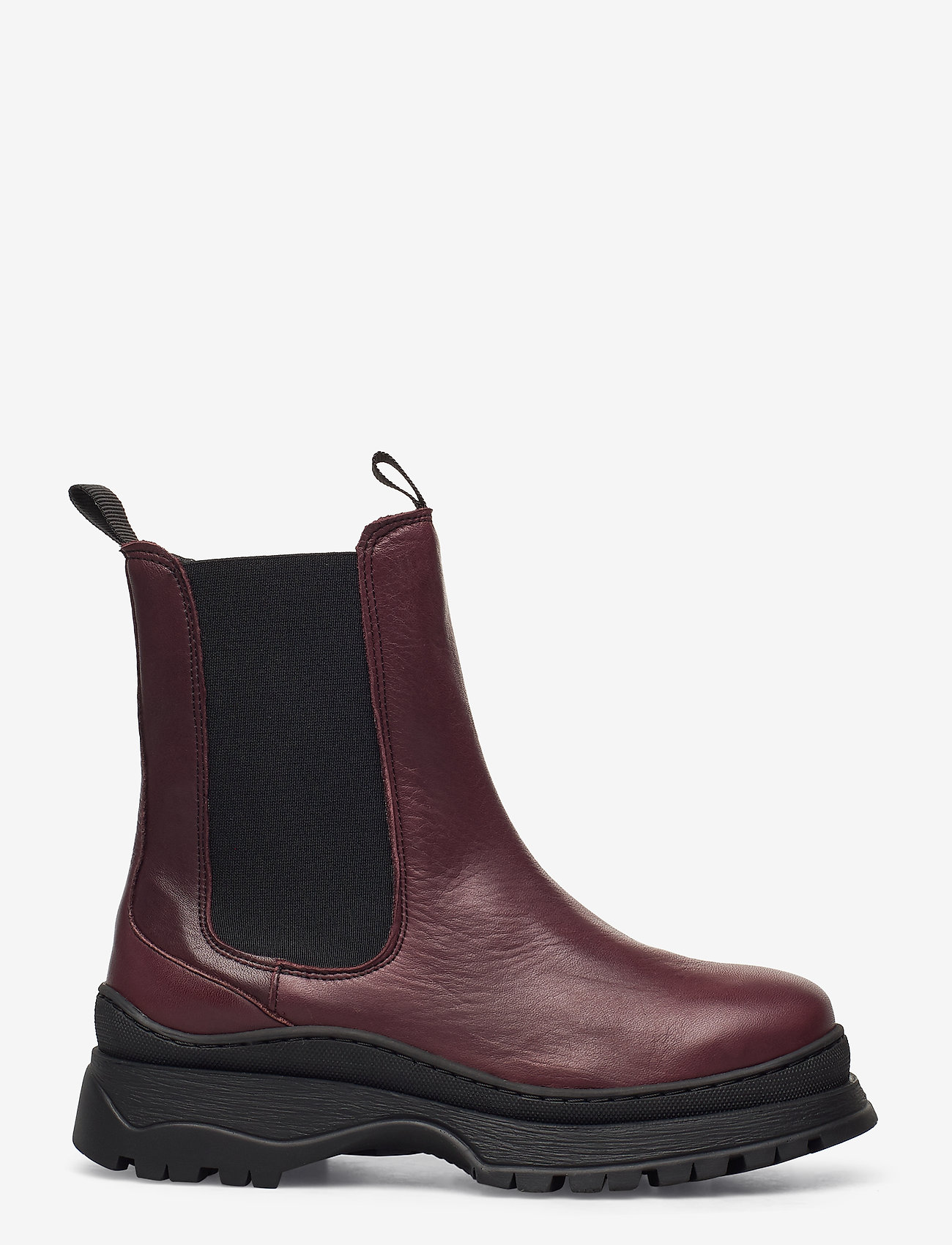 Selected Femme - SLFLUCY LEATHER CHELSEAOOT - chelsea boots - winetasting - 1