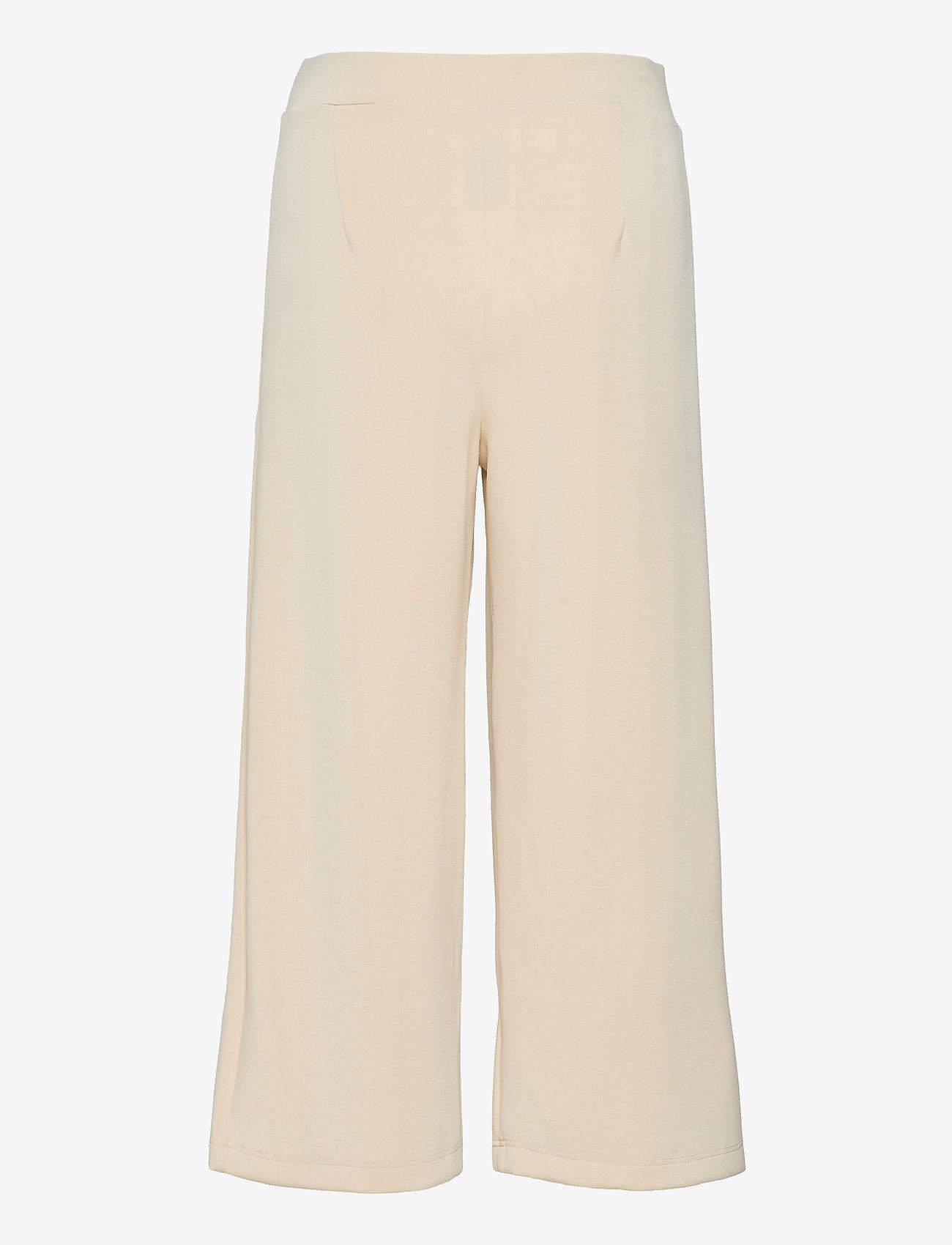 Selected Femme - SLFTENNY MW CROPPED WIDE PANT B - bukser med brede ben - birch - 1