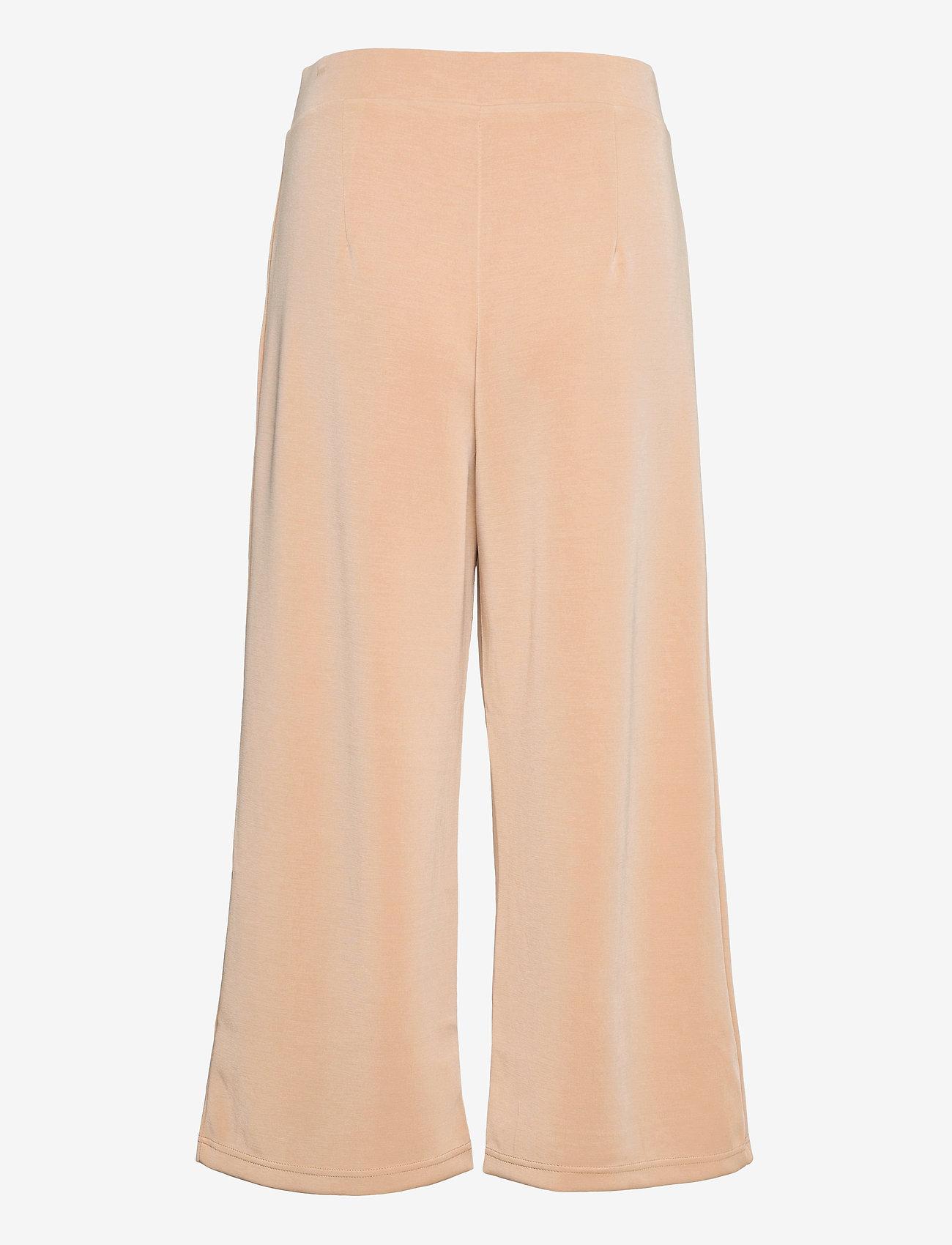 Selected Femme - SLFTENNY MW CROPPED WIDE PANT B - bukser med brede ben - nomad - 1