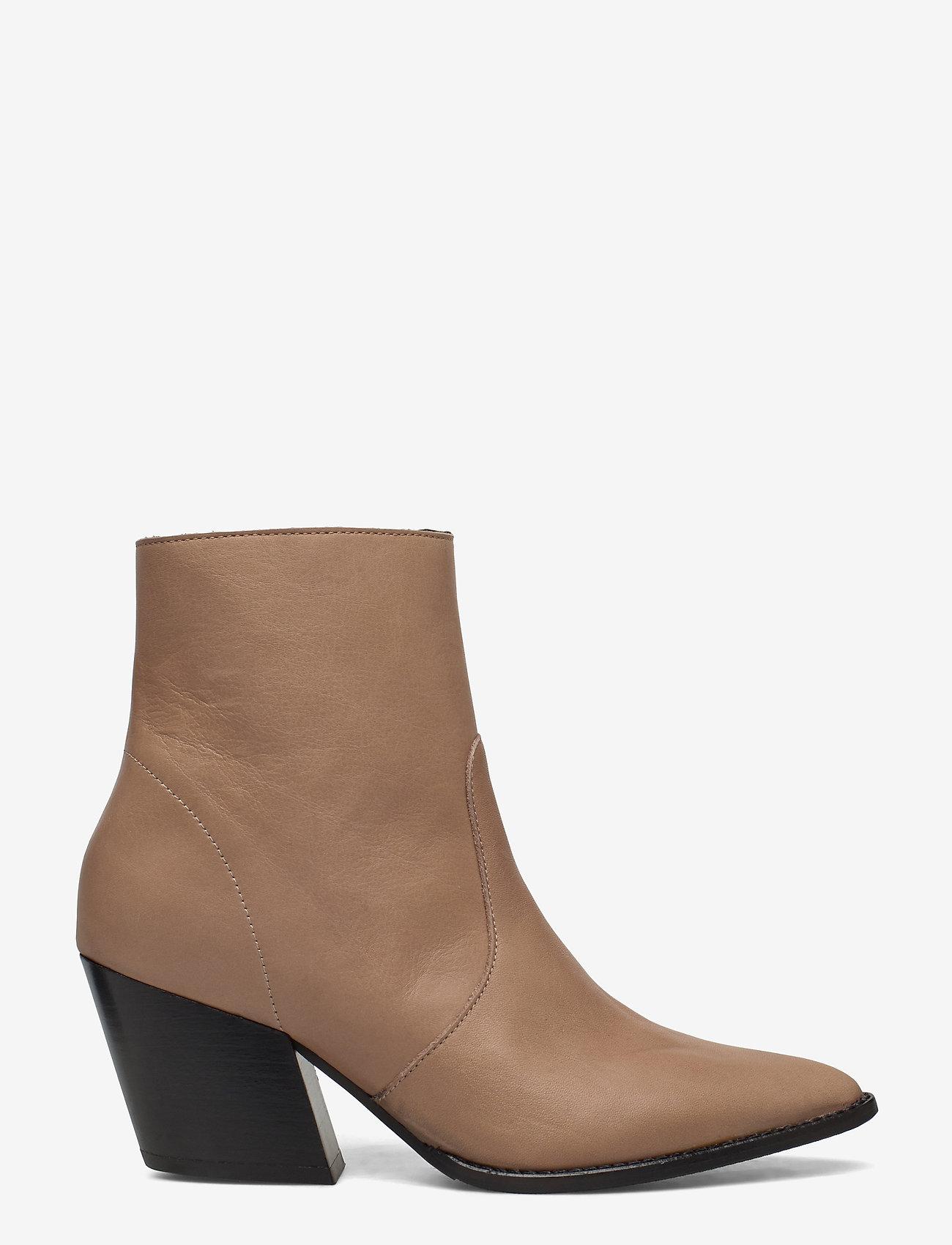 Selected Femme - SLFJULIE LEATHER BOOT B - ankelstøvler med hæl - tigers eye - 1