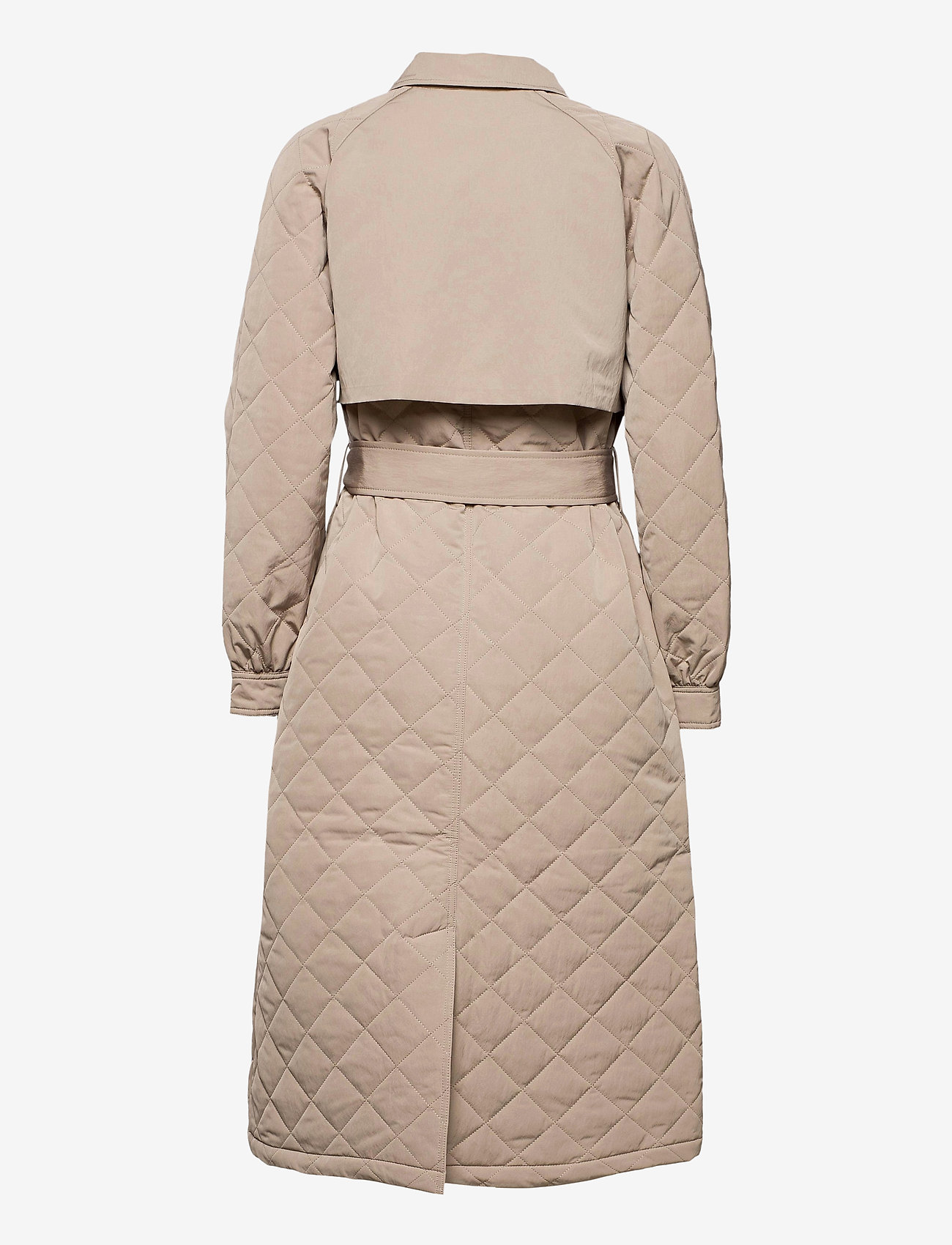 Selected Femme - SLFNINNA QUILTED TRENCHCOAT - trenchcoats - silver mink - 1